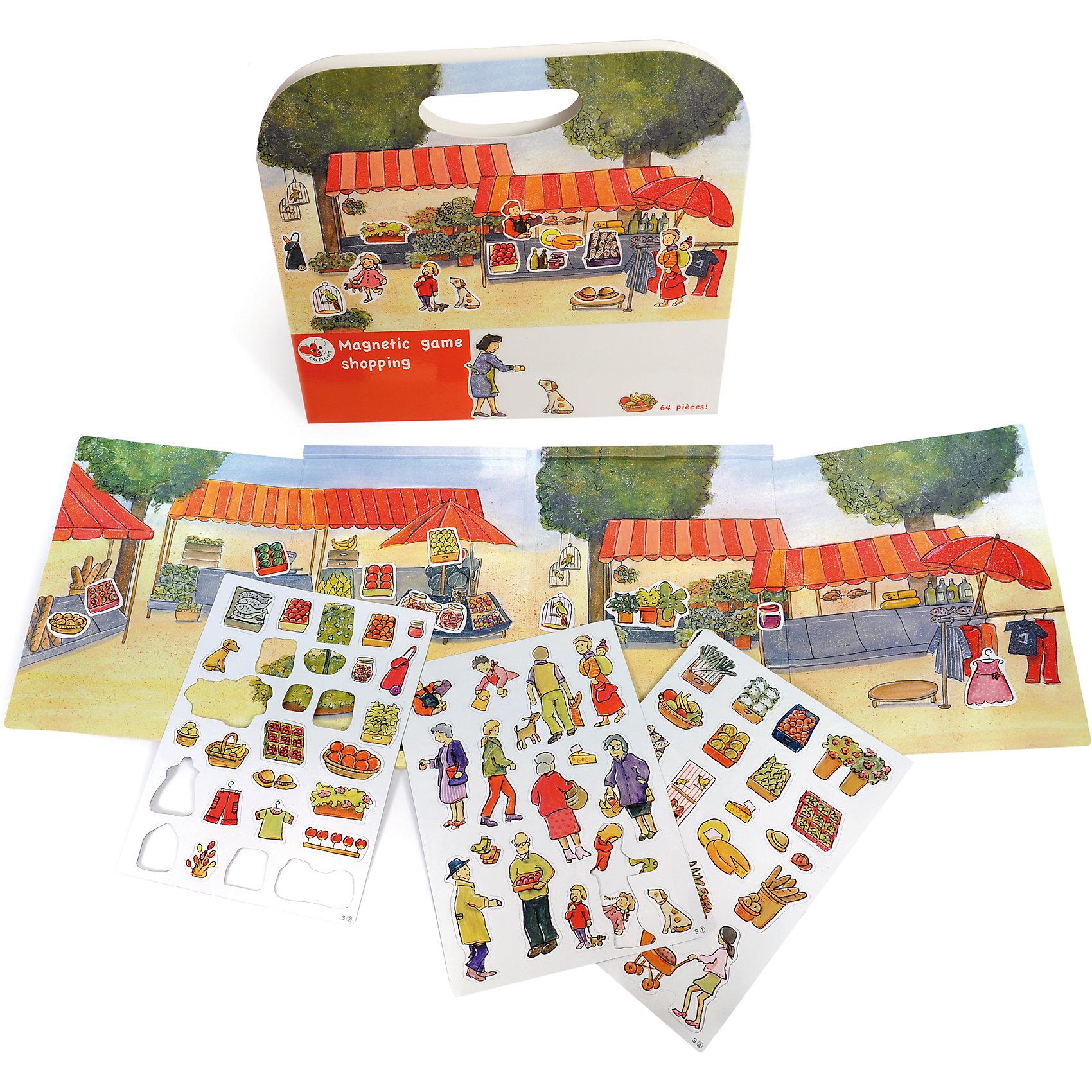 Магнитная игра За покупками, Egmont ToysИгры для развлечений<br>Характеристики:<br><br>• возраст: от 3-х лет;<br>• материал: картон, магнит;<br>• комплектация: магнитная книжка-основа, 64 детали;<br>• размер игры в развёрнутом виде: 25х67,5 см;<br>• вес: 440 г;<br>• размер упаковки: 25х24х1 см;<br><br>Магнитная игра  «За покупками», Egmont Toys – это набор магнитных элементов, предназначенный для сюжетно-ролевых и обучающих игр. Набор также можно использовать в качестве настольной игры.<br><br>Набор состоит из картонной книжки-основы, на которую нанесено изображение продуктового рынка. К основе прилагаются элементы с изображением овощей и фруктов, покупателей и продавцов.<br><br>Магнитная игра  «За покупками», Egmont Toys – это целое методическое пособие, которое позволит в легкой игровой форме познакомить ребенка с особенностями продуктового рынка и правил поведения на нем. Набор имеет множество вариантов игр. <br><br>Магнитную игру  «За покупками», Egmont Toys можно купить в нашем интернет-магазине.<br><br>Ширина мм: 250<br>Глубина мм: 240<br>Высота мм: 10<br>Вес г: 440<br>Возраст от месяцев: 36<br>Возраст до месяцев: 2147483647<br>Пол: Унисекс<br>Возраст: Детский<br>SKU: 5544493