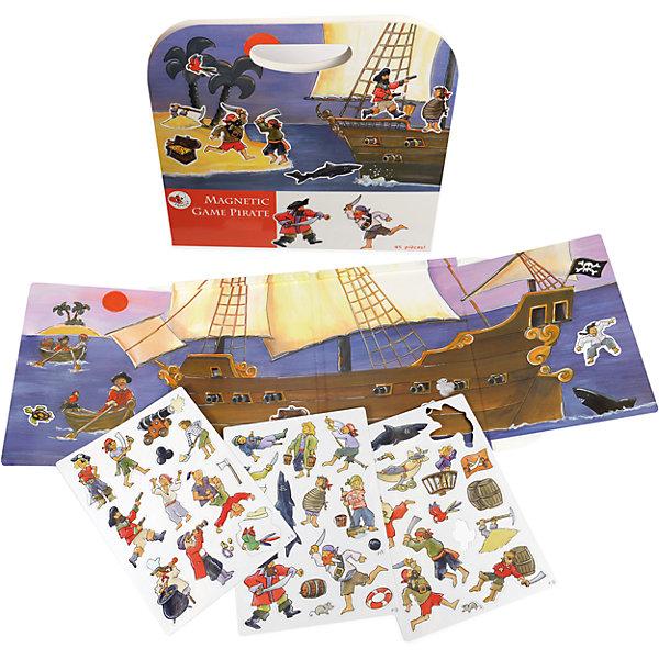 Магнитная игра Пиратский корабль, Egmont ToysОкружающий мир<br>Характеристики:<br><br>• возраст: от 3-х лет;<br>• материал: картон, магнит;<br>• комплектация: магнитная книжка-основа, 45 деталей;<br>• размер игры в развёрнутом виде: 25х67,5 см;<br>• вес: 400 г;<br>• размер упаковки: 25х24х1 см;<br><br>Магнитная игра  «Пиратский корабль», Egmont Toys – это набор магнитных элементов, предназначенный для сюжетно-ролевых и обучающих игр. Набор также можно использовать в качестве настольной игры.<br><br>Набор состоит из картонной книжки-основы, на которую нанесено изображение большого пиратского корабля, дрейфующего по морским волнам. К основе прилагаются элементы с изображением морской и пиратской тематики.<br><br>Магнитная игра  «Пиратский корабль», Egmont Toys – это целое методическое пособие, которое позволит в легкой игровой форме познакомить ребенка историческими фактами и реалиями о морских пиратах. Набор имеет множество вариантов игр. <br><br>Магнитную игру  «Пиратский корабль», Egmont Toys можно купить в нашем интернет-магазине.<br>Ширина мм: 250; Глубина мм: 240; Высота мм: 10; Вес г: 400; Возраст от месяцев: 36; Возраст до месяцев: 2147483647; Пол: Мужской; Возраст: Детский; SKU: 5544494;