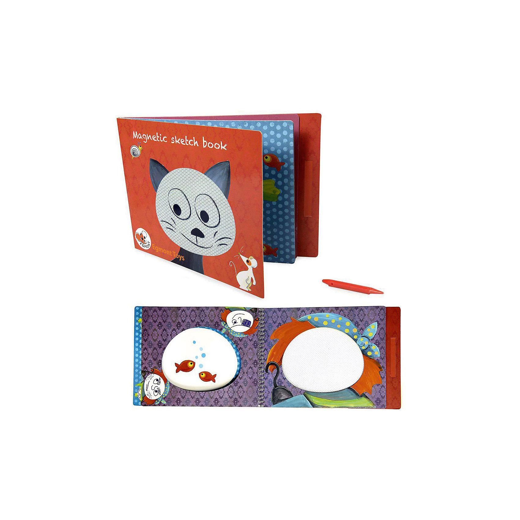 Настольная магнитная игра Котик, Egmont ToysНастольные игры для всей семьи<br>Характеристики:<br><br>• возраст: от 3-х лет;<br>• материал: картон, магнит;<br>• комплектация: магнитный блокнот, магнитная ручка;<br>• вес: 240 г;<br>• размеры (ДхШхВ): 29х21х1 см;<br><br>Детская настольная магнитная игра  «Котик», Egmont Toys – это магнитный альбом, предназначенный для обучения ребенка рисования по эскизам. <br><br>Набор состоит из блокнота и магнитной ручки. На каждой страничке нанесено изображение животных или предметов. На рисунке предусмотрены свободные магнитные поля, на которых ребенку необходимо дорисовать предмет или узор. <br><br>Детская настольная магнитная игра  «Котик», Egmont Toys – это целое обучающее рисованию пособие, которое позволит в легкой игровой форме научить ребенка основным приемам художественного творчества. <br><br>Детскую настольную магнитную игру  «Котик», Egmont Toys можно купить в нашем интернет-магазине.<br><br>Ширина мм: 290<br>Глубина мм: 210<br>Высота мм: 10<br>Вес г: 240<br>Возраст от месяцев: 36<br>Возраст до месяцев: 2147483647<br>Пол: Унисекс<br>Возраст: Детский<br>SKU: 5544495