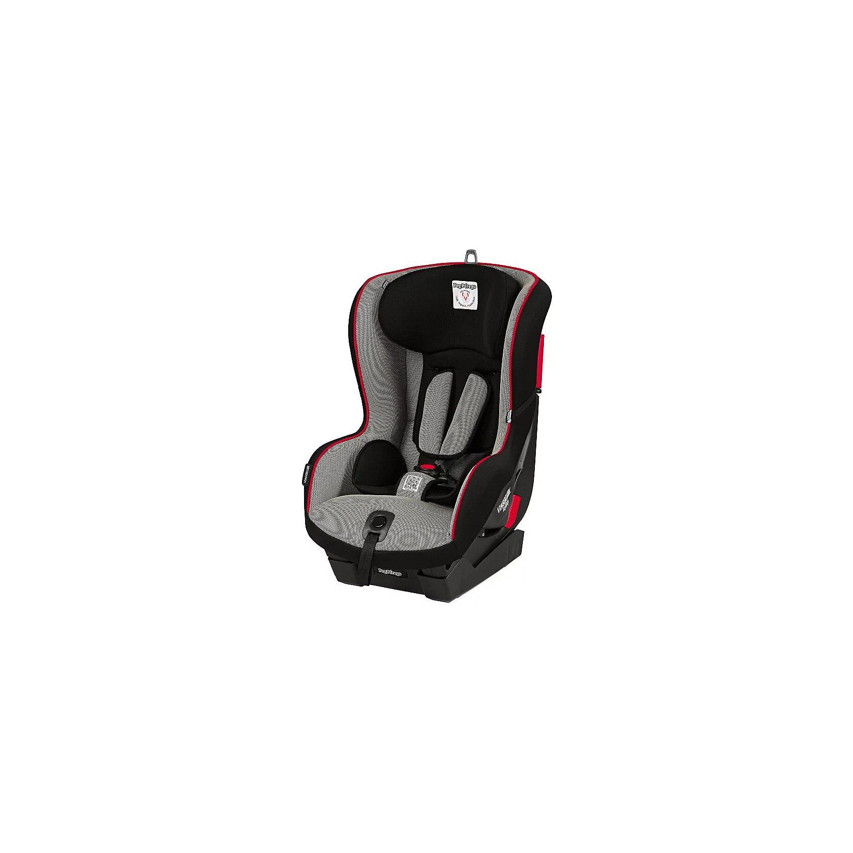 Автокресло Viaggio1 Duo-Fix K, 9-18 кг., Peg-Perego, SportДетское автокресло Peg Perego Viaggio1 Duo-Fix предназначено для детей весом от 9 до 18 кг.(от 9 мес. до 4 лет). Широкое сидение с редукторной подушкой, пятиточечным ремнем безопасности и дополнительной системой защиты от бокового удара, что обеспечивает максимальную безопасность, а 4 положения наклона обеспечивает ребенку комфорт и отдых в длительных поездках и во время сна.<br><br>Ширина мм: 550<br>Глубина мм: 450<br>Высота мм: 740<br>Вес г: 13000<br>Возраст от месяцев: 12<br>Возраст до месяцев: 48<br>Пол: Унисекс<br>Возраст: Детский<br>SKU: 5545242