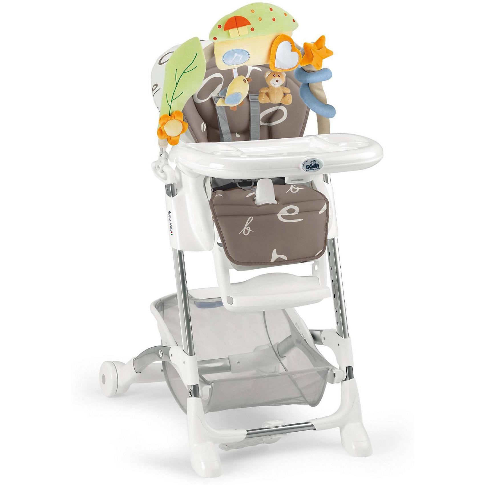 Стульчик для кормления Istante Буквы, CAM, кремовыйСтульчики для кормления<br>Очень удобный и комфортный стульчик для кормления обязательно понравится малышам! Мягкое сиденье с регулируемой в пяти положениях спинкой, страховочными ремнями и удобным разделителем для ног обеспечит малышам комфорт и безопасность. Стульчик имеет колесики, облегчающие перемещение по квартире; удобную подставку для ножек ребенка; съемный стол можно мыть в посудомоечной машине. Стул выполнен в приятной цветовой гамме, изготовлен из высококачественных прочных и экологичных материалов. Передняя часть рамы снабжена нескользящими ножками, которые обеспечивают дополнительную безопасность. Под сиденьем располагается большая корзина для игрушек и вещей. <br><br>Дополнительная информация:<br><br>- Материал: пластик, металл, <br>- Размер: 80x65x105 см.<br>- Колесики.<br>- Вместительная корзина внизу. <br>- Нескользящие ножки.<br>- Регулируемый наклон спинки (5 положений, до положения лежа).<br>- Компактно складывается.<br>- Съемный стол (можно мыть в посудомоечной машине).<br>- Регулировка по высоте в 5 положениях. <br>- Регулируемая подножка.<br>- 5-ти точечные ремни безопасности.<br>- Чехол снимается и легко моется.<br><br>Стульчик для кормления Istante от CAM, голубой, можно купить в нашем магазине.<br><br>Ширина мм: 587<br>Глубина мм: 272<br>Высота мм: 970<br>Вес г: 12500<br>Возраст от месяцев: 0<br>Возраст до месяцев: 36<br>Пол: Унисекс<br>Возраст: Детский<br>SKU: 5545246