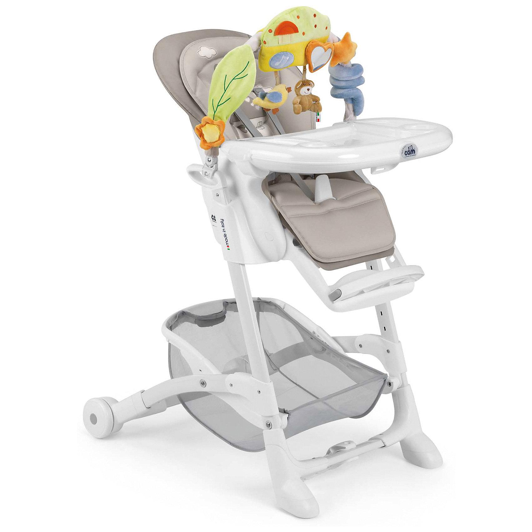 Стульчик для кормления Istante Домик, CAM, темно-серыйСтульчики для кормления<br>Очень удобный и комфортный стульчик для кормления обязательно понравится малышам! Мягкое сиденье с регулируемой в пяти положениях спинкой, страховочными ремнями и удобным разделителем для ног обеспечит малышам комфорт и безопасность. Стульчик имеет колесики, облегчающие перемещение по квартире; удобную подставку для ножек ребенка; съемный стол можно мыть в посудомоечной машине. Стул выполнен в приятной цветовой гамме, изготовлен из высококачественных прочных и экологичных материалов. Передняя часть рамы снабжена нескользящими ножками, которые обеспечивают дополнительную безопасность. Под сиденьем располагается большая корзина для игрушек и вещей. <br><br>Дополнительная информация:<br><br>- Материал: пластик, металл, <br>- Размер: 80x65x105 см.<br>- Колесики.<br>- Вместительная корзина внизу. <br>- Нескользящие ножки.<br>- Регулируемый наклон спинки (5 положений, до положения лежа).<br>- Компактно складывается.<br>- Съемный стол (можно мыть в посудомоечной машине).<br>- Регулировка по высоте в 5 положениях. <br>- Регулируемая подножка.<br>- 5-ти точечные ремни безопасности.<br>- Чехол снимается и легко моется.<br><br>Стульчик для кормления Istante от CAM, голубой, можно купить в нашем магазине.<br><br>Ширина мм: 587<br>Глубина мм: 272<br>Высота мм: 970<br>Вес г: 12500<br>Возраст от месяцев: 0<br>Возраст до месяцев: 36<br>Пол: Унисекс<br>Возраст: Детский<br>SKU: 5545248