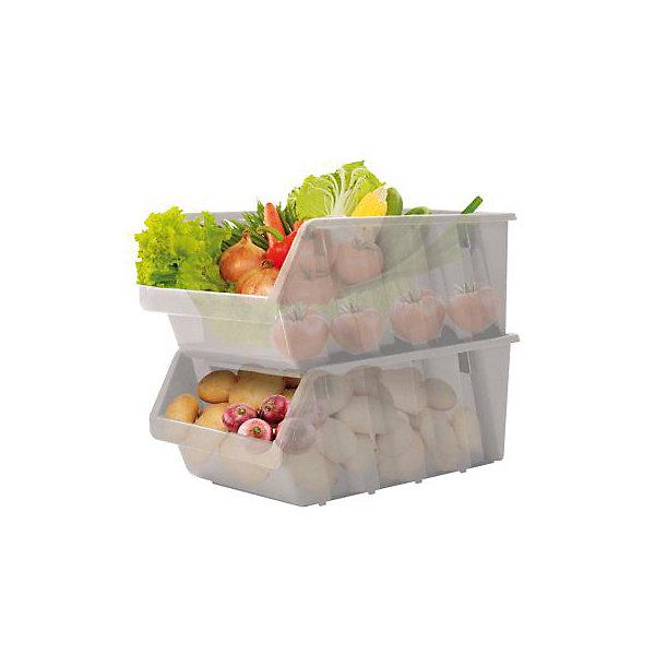Емкость для овощей, BranQДетская посуда<br>Емкость для овощей, BranQ<br><br>Характеристики:<br><br>• цвет: серый<br>• материал: пластик<br>• в комплекте: 2 штуки<br>• устанавливаются друг на друга<br>• компактная форма<br>• вес: 763 г<br>• размер: 37,5х22,5х19 см<br><br>Данные емкости удобно использовать как на кухне, так и в поездке. Они изготовлены из высококачественного и безопасного пластика, а потому пригодны для хранения пищевых продуктов. Имеют компактную эргономичную форму, что обеспечивает удобство хранения и использования. В пустом состоянии для транспортировки их удобно складывать друг в друга.<br><br>Емкость для овощей, BranQ можно купить в нашем интернет-магазине.<br><br>Ширина мм: 375<br>Глубина мм: 225<br>Высота мм: 190<br>Вес г: 763<br>Возраст от месяцев: 216<br>Возраст до месяцев: 1188<br>Пол: Унисекс<br>Возраст: Детский<br>SKU: 5545609