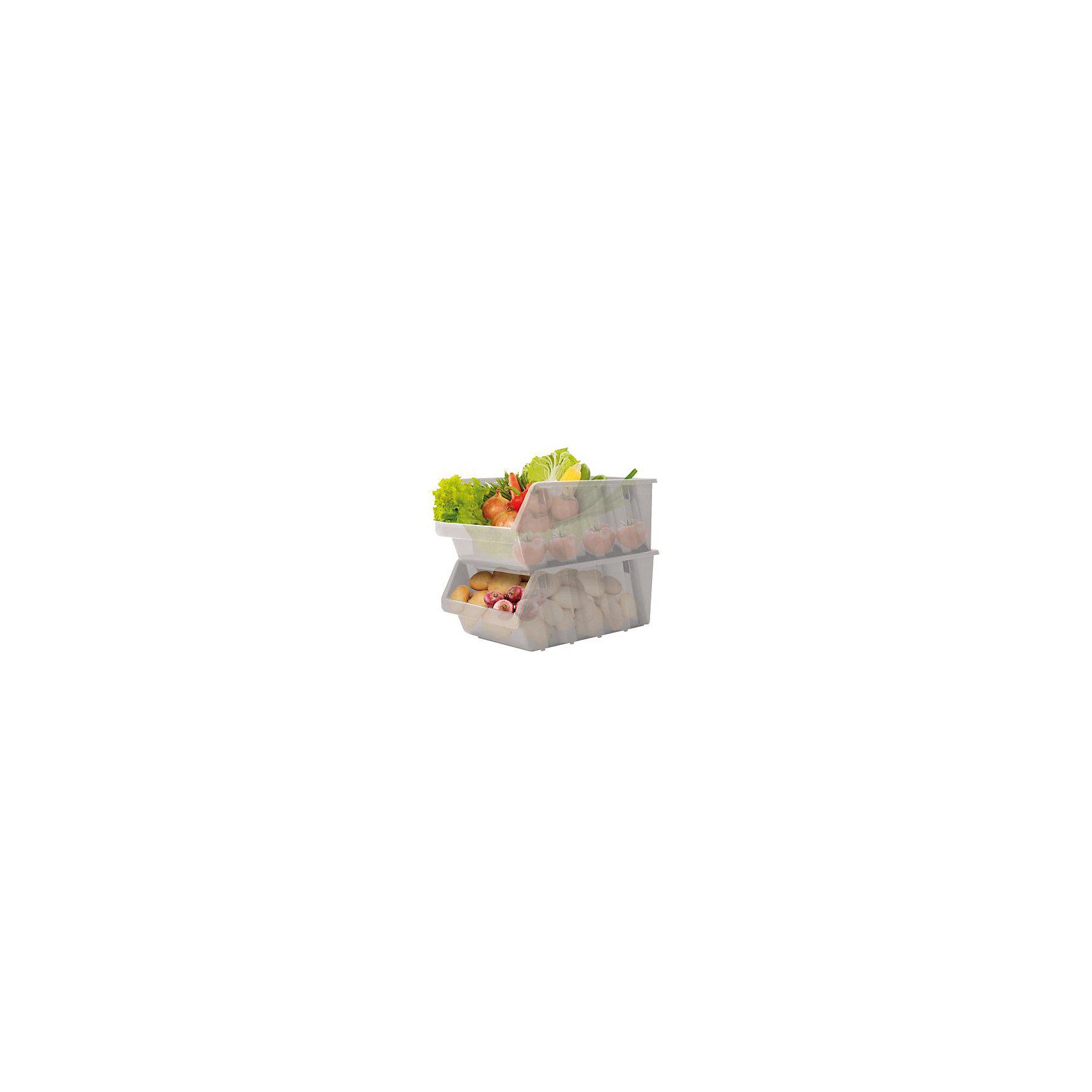 Емкость для овощей, BranQПосуда<br>Емкость для овощей, BranQ<br><br>Характеристики:<br><br>• цвет: серый<br>• материал: пластик<br>• в комплекте: 2 штуки<br>• устанавливаются друг на друга<br>• компактная форма<br>• вес: 763 г<br>• размер: 37,5х22,5х19 см<br><br>Данные емкости удобно использовать как на кухне, так и в поездке. Они изготовлены из высококачественного и безопасного пластика, а потому пригодны для хранения пищевых продуктов. Имеют компактную эргономичную форму, что обеспечивает удобство хранения и использования. В пустом состоянии для транспортировки их удобно складывать друг в друга.<br><br>Емкость для овощей, BranQ можно купить в нашем интернет-магазине.<br><br>Ширина мм: 375<br>Глубина мм: 225<br>Высота мм: 190<br>Вес г: 763<br>Возраст от месяцев: 216<br>Возраст до месяцев: 1188<br>Пол: Унисекс<br>Возраст: Детский<br>SKU: 5545609