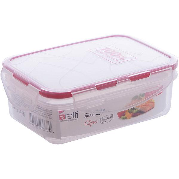 Контейнер для продуктов Clipso прямоугольный 0,5 л, GiarettiДетская посуда<br>Контейнер для продуктов Clipso прямоугольный 0,5 л, Giaretti<br><br>Характеристики:<br><br>• материал: пластик<br>• в комплекте: 1 штука<br>• объем: 0,5 литра<br>• воздухонепроницаемая крышка<br>• надёжные замки<br>• можно разогревать в микроволновке<br>• подходит для хранения продуктов в морозилке<br>• вес: 102 г<br>• размер: 15,5х10,5х5,6 см<br><br>Эти герметичные контейнеры удобно использовать как для хранения, так и для транспортировки блюд, ведь благодаря надежным замкам и креплениям, еда упаковывается герметично, без опасения что-то пролить. Воздухонепроницаемая крышка позволяет сохранять свежесть продуктов дольше, а качество пластика - использовать  контейнер как для хранения еды в холодильнике, так и для разогревания в микроволновой печи.<br><br>Контейнер для продуктов Clipso прямоугольный 0,5 л, Giaretti можно купить в нашем интернет-магазине.<br>Ширина мм: 155; Глубина мм: 105; Высота мм: 56; Вес г: 102; Возраст от месяцев: 216; Возраст до месяцев: 1188; Пол: Унисекс; Возраст: Детский; SKU: 5545611;