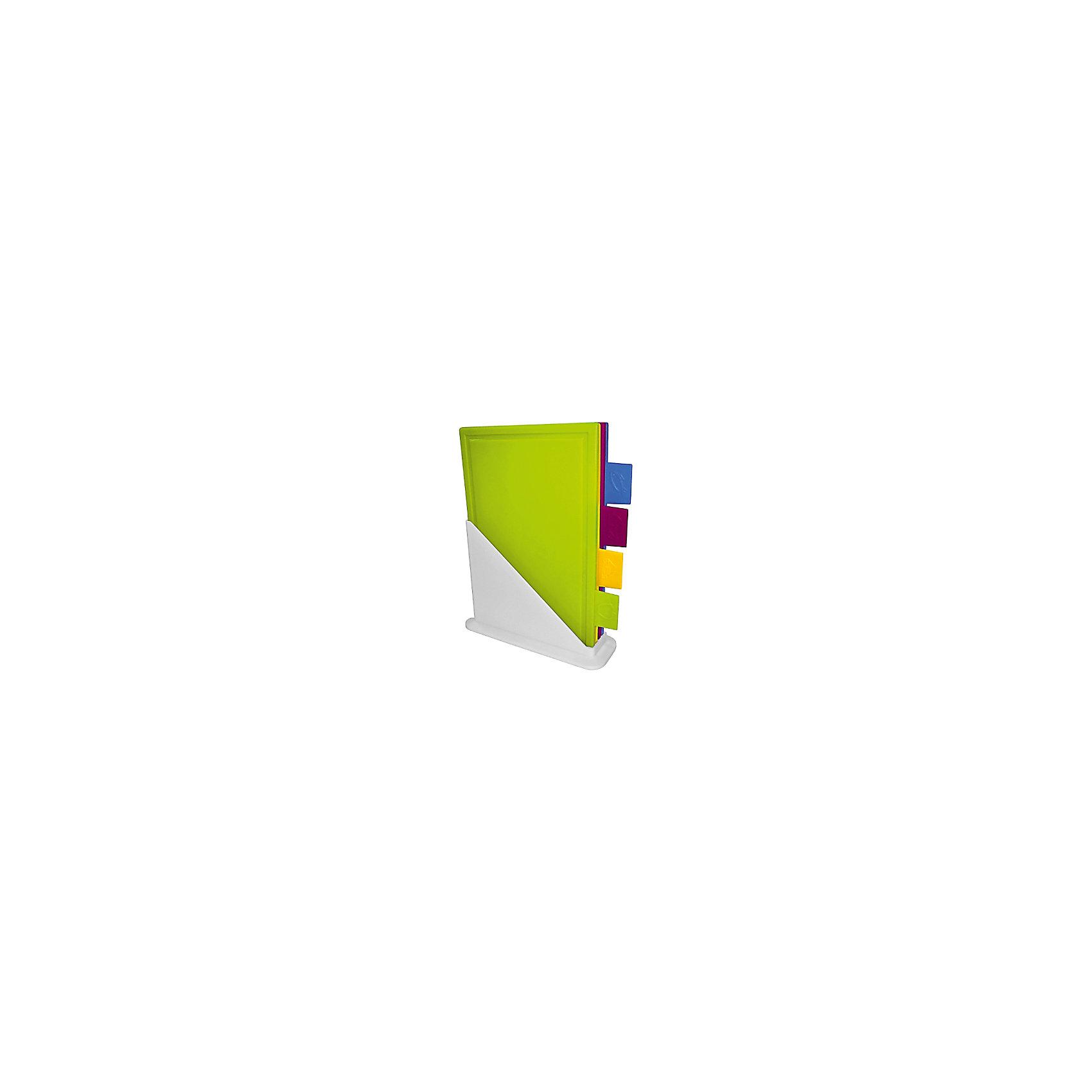 Набор досок разделочных на подставке (4 шт.), GiarettiПосуда<br>Набор досок разделочных на подставке (4 шт.), Giaretti<br><br>Характеристики:<br><br>• Цвет: зеленый, желтый, фиолетовый и синий<br>• Материал: пластик<br>• В комплекте: 4 штуки<br>• Для чего: мясо, рыба, овощи и сыр<br>• Размер: 24х82х31 см<br><br>Давно уже известно, что для каждого вида продуктов (мясо, рыба, овощи, сыр) рекомендовано использовать отдельную разделочную доску. Этот набор разделочных досок на подставке позволяет решить этот вопрос ,так как каждая доска снабжена специальными ярлычками и изготовлена в определенном цвете, чтобы было легко определять предназначение доски. Изготовлены данные доски из специального высококачественного пищевого пластика, который безопасен для здоровья и устойчив к повреждениям. <br><br>Набор досок разделочных на подставке (4 шт.), Giaretti можно купить в нашем интернет-магазине.<br><br>Ширина мм: 248<br>Глубина мм: 82<br>Высота мм: 310<br>Вес г: 2008<br>Возраст от месяцев: 216<br>Возраст до месяцев: 1188<br>Пол: Унисекс<br>Возраст: Детский<br>SKU: 5545619