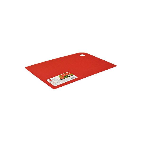 Доска разделочная Delicato 25*17 см, GiarettiКухонная утварь<br>Доска разделочная Delicato 25*17 см, Giaretti<br><br>Характеристики:<br><br>• Цвет: красный<br>• Материал: пластик<br>• В комплекте: 1 штука<br>• Размер: 25х17 см<br><br>Эти компактные разделочные доски от Giaretti позволят вам легко навести порядок на вашей кухне и не отвлекаться на мелочи. Благодаря своей гибкости, эти доски можно использовать, чтобы переложить нарезанные ингредиенты, не рассыпав содержимое. Изготовлены они из высококачественного пищевого пластика, который безопасен  для здоровья. <br><br>Доска разделочная Delicato 25*17 см, Giaretti можно купить в нашем интернет-магазине.<br>Ширина мм: 250; Глубина мм: 170; Высота мм: 2; Вес г: 91; Возраст от месяцев: 216; Возраст до месяцев: 1188; Пол: Унисекс; Возраст: Детский; SKU: 5545621;