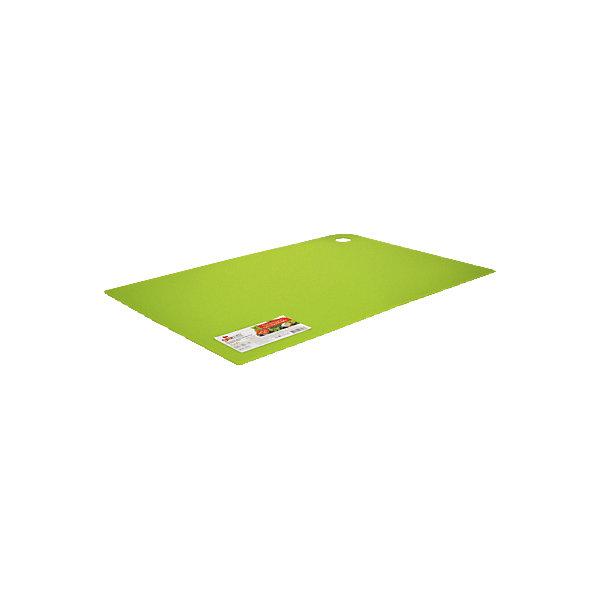 Доска разделочная Elastico 25*17 см, GiarettiКухонная утварь<br>Доска разделочная Elastico 25*17 см, Giaretti<br><br>Характеристики:<br><br>• Цвет: зеленый<br>• Материал: пластик<br>• В комплекте: 1 штука<br>• Размер: 25х17 см<br><br>Эти компактные разделочные доски от Giaretti позволят вам легко навести порядок на вашей кухне и не отвлекаться на мелочи. Благодаря своей гибкости, эти доски можно использовать, чтобы переложить нарезанные ингредиенты, не рассыпав содержимое. Изготовлены они из высококачественного пищевого пластика, который безопасен  для здоровья. <br><br>Доска разделочная Elastico 25*17 см, Giaretti можно купить в нашем интернет-магазине.<br>Ширина мм: 250; Глубина мм: 170; Высота мм: 5; Вес г: 168; Возраст от месяцев: 216; Возраст до месяцев: 1188; Пол: Унисекс; Возраст: Детский; SKU: 5545623;