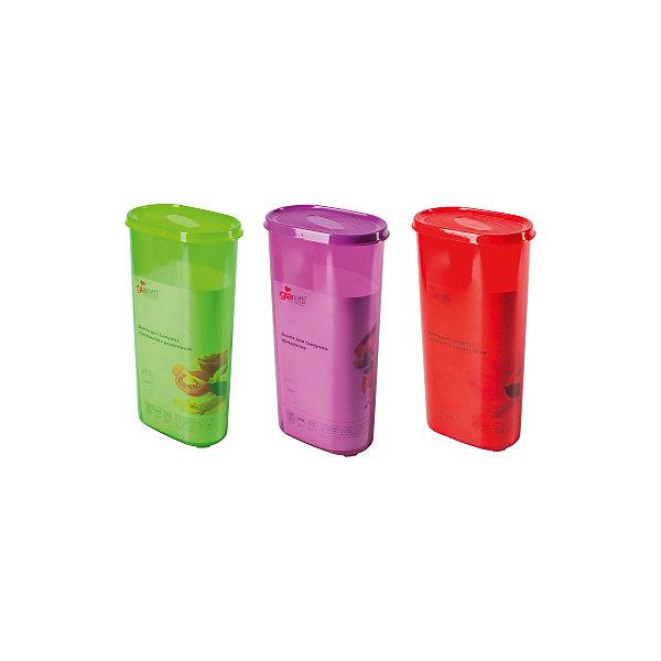 Банка для сыпучих продуктов 2,4 л, GiarettiКухонная утварь<br>Банка для сыпучих продуктов 2,4 л, Giaretti<br><br>Характеристики:<br><br>• Материал: пластик<br>• В комплекте: 1 штука<br>• Объем: 2,4 литра<br>• Используется: для сыпучих продуктов<br><br>Банки данной серии снабжены плотной крышкой, благодаря чему в них удобно хранить даже специи, ведь они не пропускают запаха. Так же банка может использоваться для хранения сыпучих продуктов - круп, сахара, макарон и тд. Благодаря тому, что изделие изготовлено из высококачественного пищевого пластика, оно не влияет на вкус и запах хранящихся продуктов, а удобная форма позволят хранить не использующиеся банки, ставя их друг в друга для экономии пространства.<br><br>Банка для сыпучих продуктов 2,4 л, Giaretti можно купить в нашем интернет-магазине.<br><br>Ширина мм: 155<br>Глубина мм: 90<br>Высота мм: 285<br>Вес г: 297<br>Возраст от месяцев: 216<br>Возраст до месяцев: 1188<br>Пол: Унисекс<br>Возраст: Детский<br>SKU: 5545629