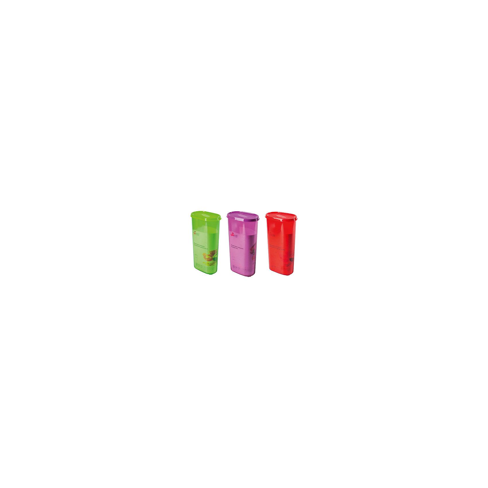 Банка для сыпучих продуктов 2,4 л, GiarettiПосуда<br>Банка для сыпучих продуктов 2,4 л, Giaretti<br><br>Характеристики:<br><br>• Материал: пластик<br>• В комплекте: 1 штука<br>• Объем: 2,4 литра<br>• Используется: для сыпучих продуктов<br><br>Банки данной серии снабжены плотной крышкой, благодаря чему в них удобно хранить даже специи, ведь они не пропускают запаха. Так же банка может использоваться для хранения сыпучих продуктов - круп, сахара, макарон и тд. Благодаря тому, что изделие изготовлено из высококачественного пищевого пластика, оно не влияет на вкус и запах хранящихся продуктов, а удобная форма позволят хранить не использующиеся банки, ставя их друг в друга для экономии пространства.<br><br>Банка для сыпучих продуктов 2,4 л, Giaretti можно купить в нашем интернет-магазине.<br><br>Ширина мм: 155<br>Глубина мм: 90<br>Высота мм: 285<br>Вес г: 297<br>Возраст от месяцев: 216<br>Возраст до месяцев: 1188<br>Пол: Унисекс<br>Возраст: Детский<br>SKU: 5545629