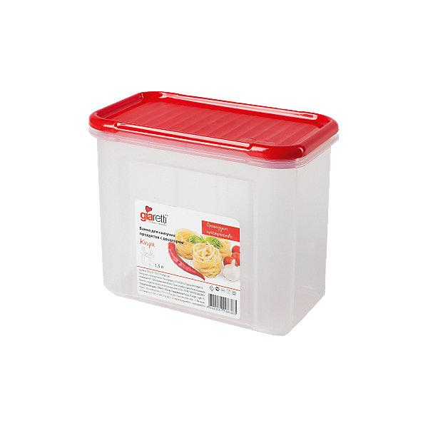Банка для сыпучих продуктов Krupa 1 л, GiarettiКухонная утварь<br>Банка для сыпучих продуктов Krupa 1 л, Giaretti<br><br>Характеристики:<br><br>• Материал: пластик<br>• В комплекте: 1 штука<br>• Объем: 1 литр<br>• Используется: для сыпучих продуктов<br><br>Банки данной серии снабжены плотной крышкой, благодаря чему в них удобно хранить даже специи, ведь они не пропускают запаха. Так же банка может использоваться для хранения сыпучих продуктов - круп, сахара, макарон и тд. Благодаря тому, что изделие изготовлено из высококачественного пищевого пластика, оно не влияет на вкус и запах хранящихся продуктов, а удобная форма позволят хранить не использующиеся банки, ставя их друг в друга для экономии пространства.<br><br>Банка для сыпучих продуктов Krupa 1 л, Giaretti можно купить в нашем интернет-магазине.<br>Ширина мм: 163; Глубина мм: 87; Высота мм: 131; Вес г: 147; Возраст от месяцев: 216; Возраст до месяцев: 1188; Пол: Унисекс; Возраст: Детский; SKU: 5545630;
