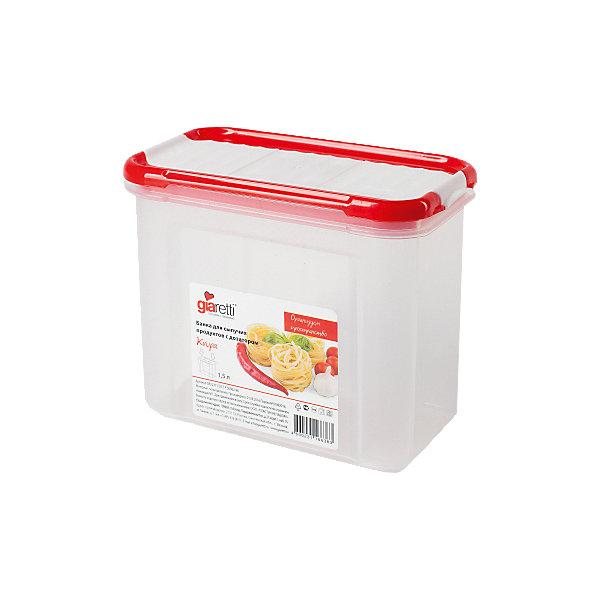 Банка для сыпучих продуктов с дозатором Krupa 1 л, GiarettiКухонная утварь<br>Банка для сыпучих продуктов с дозатором Krupa 1 л, Giaretti<br><br>Характеристики:<br><br>• Материал: пластик<br>• В комплекте: 1 штука<br>• Объем: 1 литр<br>• Используется: для сыпучих продуктов<br><br>Банки данной серии снабжены плотной крышкой, благодаря чему в них удобно хранить даже специи, ведь они не пропускают запаха. Так же банка может использоваться для хранения сыпучих продуктов - круп, сахара, макарон и тд. Благодаря тому, что изделие изготовлено из высококачественного пищевого пластика, оно не влияет на вкус и запах хранящихся продуктов, а удобная форма позволят хранить не использующиеся банки, ставя их друг в друга для экономии пространства. Банка оснащена дозатором для высыпания. <br><br>Банка для сыпучих продуктов с дозатором Krupa 1 л, Giaretti можно купить в нашем интернет-магазине.<br><br>Ширина мм: 172<br>Глубина мм: 88<br>Высота мм: 133<br>Вес г: 156<br>Возраст от месяцев: 216<br>Возраст до месяцев: 1188<br>Пол: Унисекс<br>Возраст: Детский<br>SKU: 5545631