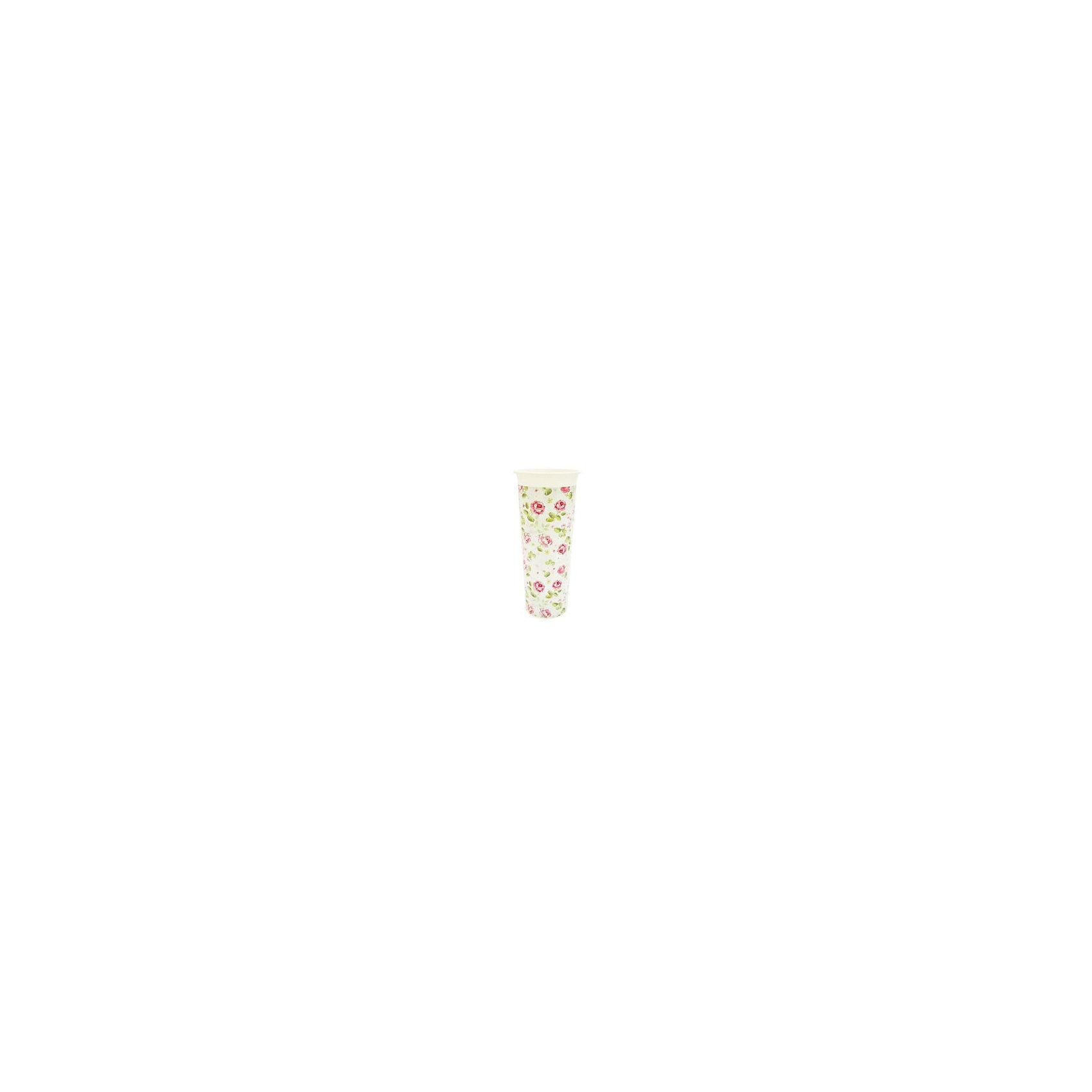 Ваза для цветов Розы D 112 mm, INGREENПредметы интерьера<br>Оригинальные и неповторимые по своей стилистике вазы для цветов ТМ InGreen станут прекрасным украшением загородного дома, дачи или квартиры. Вазы декорированы IML-этикеткой, которая отличается от аналогов высокой точностью и качеством печати. Этикетка выглядит единым целым с корпусом изделия, что придает внешнюю привлекательность товару. Также этикетка повышает устойчивость вазы к внешним механическим повреждениям.<br><br>Ширина мм: 112<br>Глубина мм: 112<br>Высота мм: 260<br>Вес г: 111<br>Возраст от месяцев: 216<br>Возраст до месяцев: 1188<br>Пол: Унисекс<br>Возраст: Детский<br>SKU: 5545639