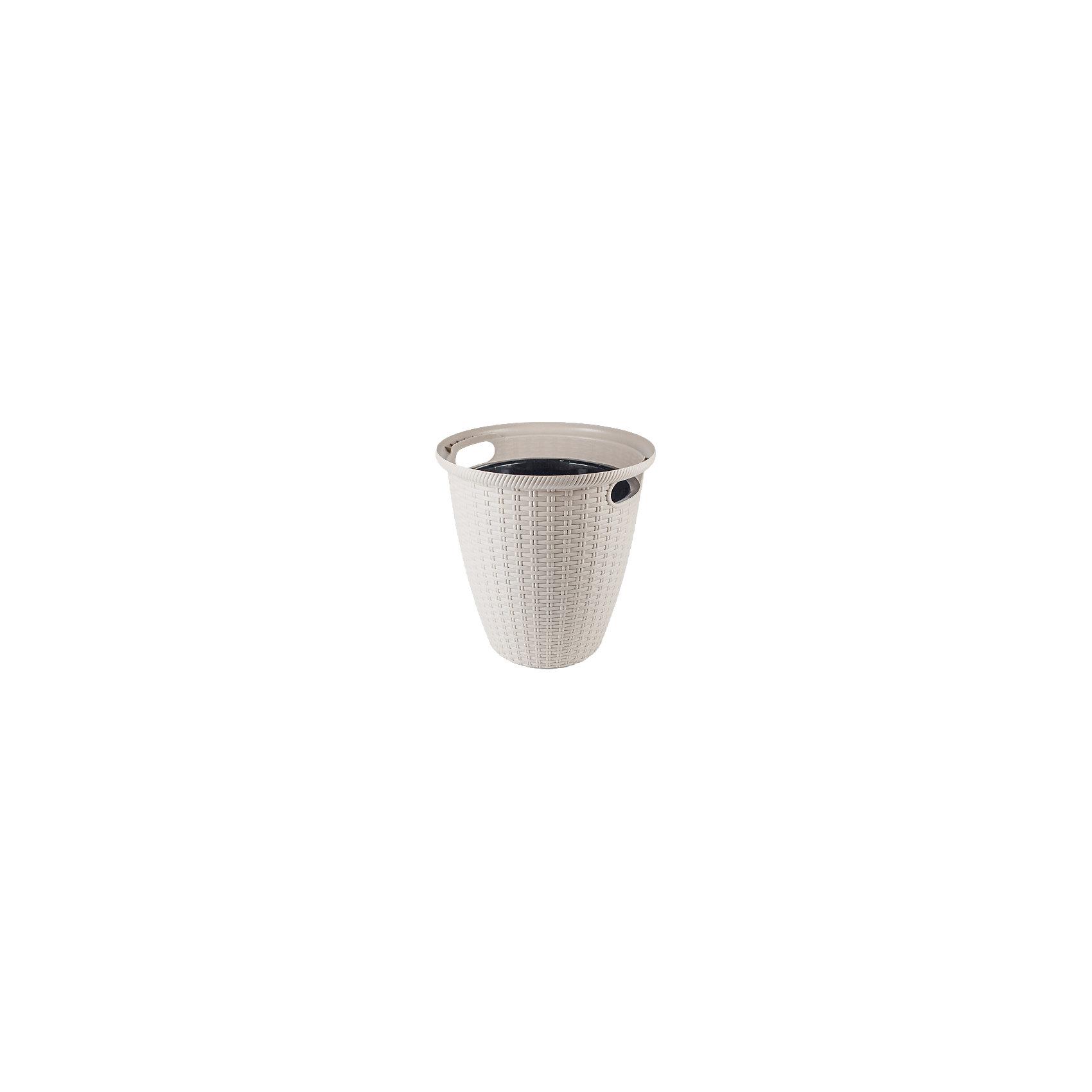 Кашпо напольное Ротанг D 380/30 л, INGREENПредметы интерьера<br>Красивое кашпо, имитирующее плетение ротанг, превратит любое растение в стильный аксессуар интерьера, дополнит и подчеркнет его красоту. Кашпо и горшок 2 в 1: растение высаживается во внутренний горшок–вставку и помещается в декоративное кашпо, отсутствует необходимость в использовании поддона. Незаменимо для зонирования жилых и офисных помещений, украшения террас и веранд. Благодаря свойствам материала, может использоваться как в помещении, так и перед входом в дом, так как выдерживает температуру до -5С. С боковых сторон кашпо имеет эргономичные ручки, для легкой переноски растения.<br><br>Ширина мм: 380<br>Глубина мм: 380<br>Высота мм: 378<br>Вес г: 1151<br>Возраст от месяцев: 216<br>Возраст до месяцев: 1188<br>Пол: Унисекс<br>Возраст: Детский<br>SKU: 5545646