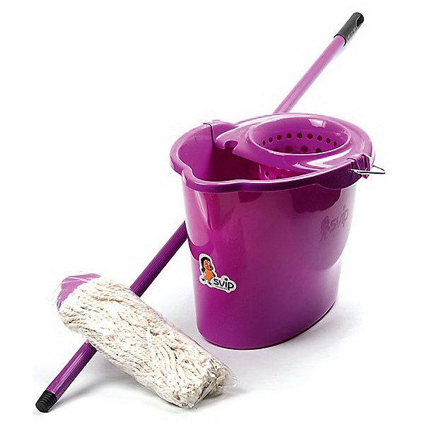 Комплект для влажной уборки МОП, SvipМусорные ведра<br>Комплект для влажной уборки МОП, Svip<br><br>Характеристики:<br><br>• Материал: пластик<br>• Цвет: серый<br>• В комплекте: черенок, ведро с отжимом<br>• Размер черенка: 110 см<br><br>Этот набор для влажной уборки позволит легко навести дома порядок. В комплект входит черенок длиной 110 см и современный МОП для уборки пола. Использование этого набора позволяет производить влажную уборку быстро и эффективно, так как материалы, использованные при изготовлении МОПа, не оставляют разводов при мытье, тщательно впитывают влагу и легко отжимаются.<br><br>Комплект для влажной уборки МОП, Svip можно купить в нашем интернет-магазине.<br>Ширина мм: 335; Глубина мм: 340; Высота мм: 1340; Вес г: 810; Возраст от месяцев: 216; Возраст до месяцев: 1188; Пол: Унисекс; Возраст: Детский; SKU: 5545649;