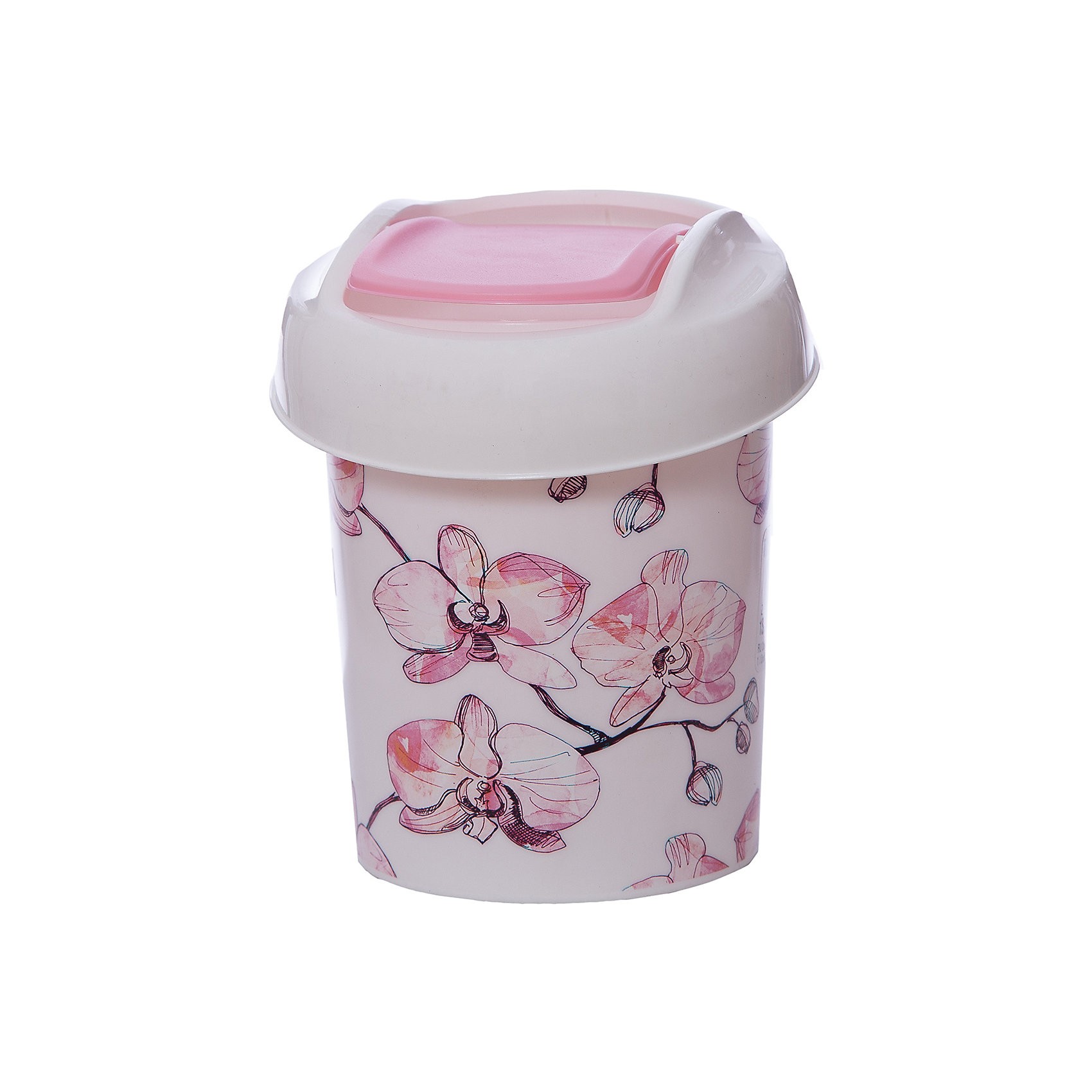 Контейнер для мусора Ориджинал 1 л декор орхидеи, SvipПорядок в детской<br>Этот маленький контейнер поможет поддержать порядок и чистоту за обеденным столом, на кухонной столешнице, и даже на столике в ванной комнате. Изделие оснащено поворотной крышкой-маятником, которая легко открывается простым нажатием руки, и сама возвращается в стандартное положение. Скрытые борта в корпусе ведра для аккуратного использования одноразовых пакетов и сохранения эстетики изделия. Для удобства извлечения накопившегося в ведре мусора его верхняя часть сделана съёмной.<br><br>Ширина мм: 130<br>Глубина мм: 130<br>Высота мм: 155<br>Вес г: 100<br>Возраст от месяцев: 216<br>Возраст до месяцев: 1188<br>Пол: Унисекс<br>Возраст: Детский<br>SKU: 5545660