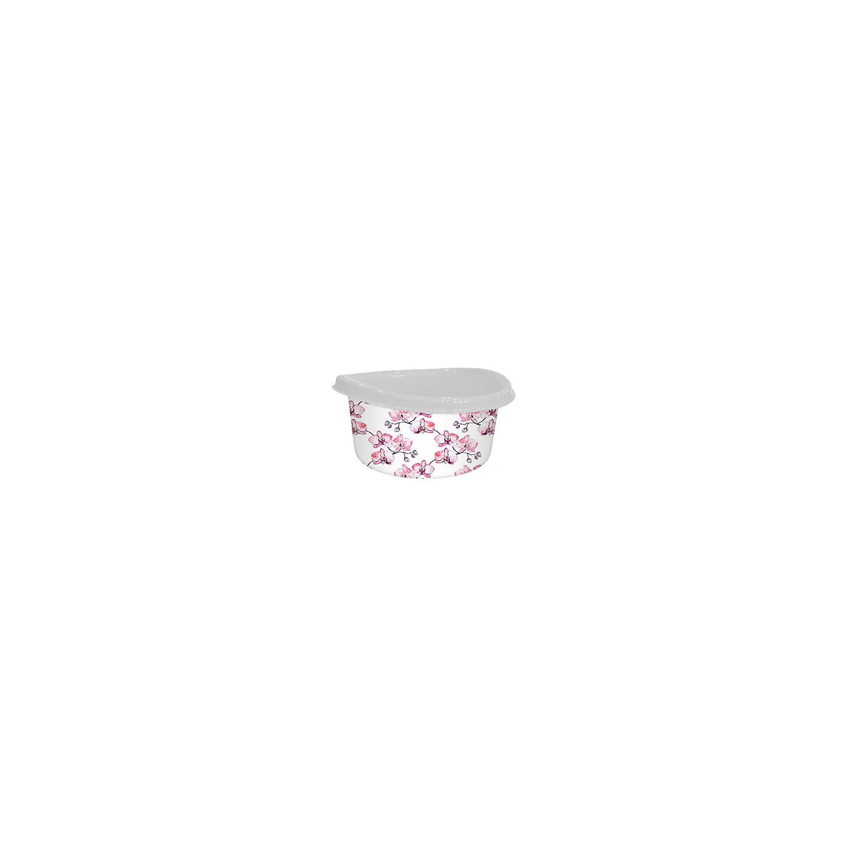 Таз круглый 12 л Ориджинал Декор орхидеи, SvipТаз пластмассовый круглой формы 12 л незаменим в хозяйственных целях для мойки, стирки, хранения  и других нужд. Выполнен из высококачественного пластика с современным декором, который сохраняет привлекательный вид изделия долгое время. Устойчив к царапинам.<br><br>Ширина мм: 390<br>Глубина мм: 390<br>Высота мм: 180<br>Вес г: 391<br>Возраст от месяцев: 216<br>Возраст до месяцев: 1188<br>Пол: Унисекс<br>Возраст: Детский<br>SKU: 5545663