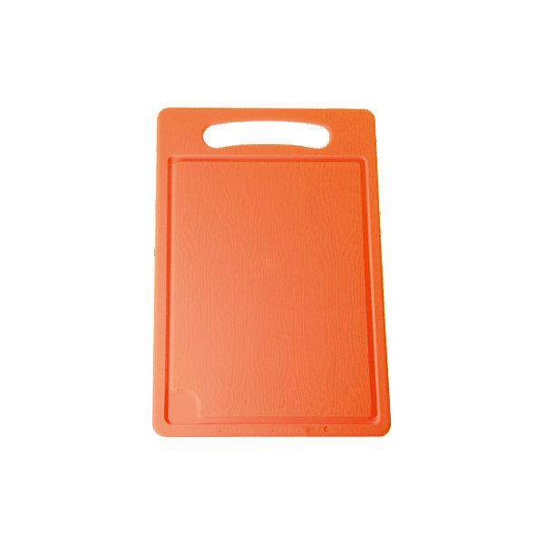 Доска разделочная №4, Plastic CentreКухонная утварь<br>Доска разделочная №4, Plastic Centre<br><br>Характеристики:<br><br>• Цвет: оранжевый<br>• Материал: пластик<br>• В комплекте: 1 штука<br>• Размер: 36х24см<br><br>Хорошие разделочные доски позволят вам легко навести порядок на вашей кухне и не отвлекаться на мелочи. Эта доска оснащена специальным желобком, который поможет слить стекающую воду, не потревожив продукты. Изготовлены они из высококачественного пищевого пластика, который безопасен  для здоровья. Доска устойчива к запахам и порезам от ножа.<br><br>Доска разделочная №4, Plastic Centre можно купить в нашем интернет-магазине.<br>Ширина мм: 360; Глубина мм: 240; Высота мм: 6; Вес г: 397; Возраст от месяцев: 216; Возраст до месяцев: 1188; Пол: Унисекс; Возраст: Детский; SKU: 5545672;