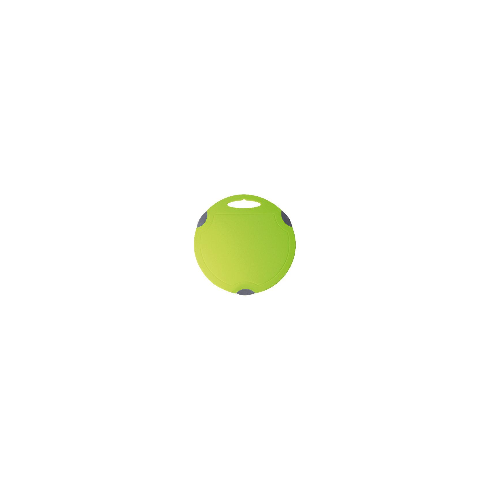 Доска разделочная Люкс круглая большая, Plastic CentreКухонная утварь<br>Доска разделочная Люкс круглая большая, Plastic Centre<br><br>Характеристики:<br><br>• Цвет: зеленый<br>• Материал: пластик<br>• В комплекте: 1 штука<br>• Размер: 32х32 см<br><br>Хорошие разделочные доски позволят вам легко навести порядок на вашей кухне и не отвлекаться на мелочи. Эта доска оснащена специальным желобком, который поможет слить стекающую воду, не потревожив продукты. Изготовлены они из высококачественного пищевого пластика, который безопасен  для здоровья. Доска устойчива к запахам и порезам от ножа. Стильный дизайн не оставит равнодушным никого.<br><br>Доска разделочная Люкс круглая большая, Plastic Centre можно купить в нашем интернет-магазине.<br><br>Ширина мм: 320<br>Глубина мм: 320<br>Высота мм: 7<br>Вес г: 472<br>Возраст от месяцев: 216<br>Возраст до месяцев: 1188<br>Пол: Унисекс<br>Возраст: Детский<br>SKU: 5545676