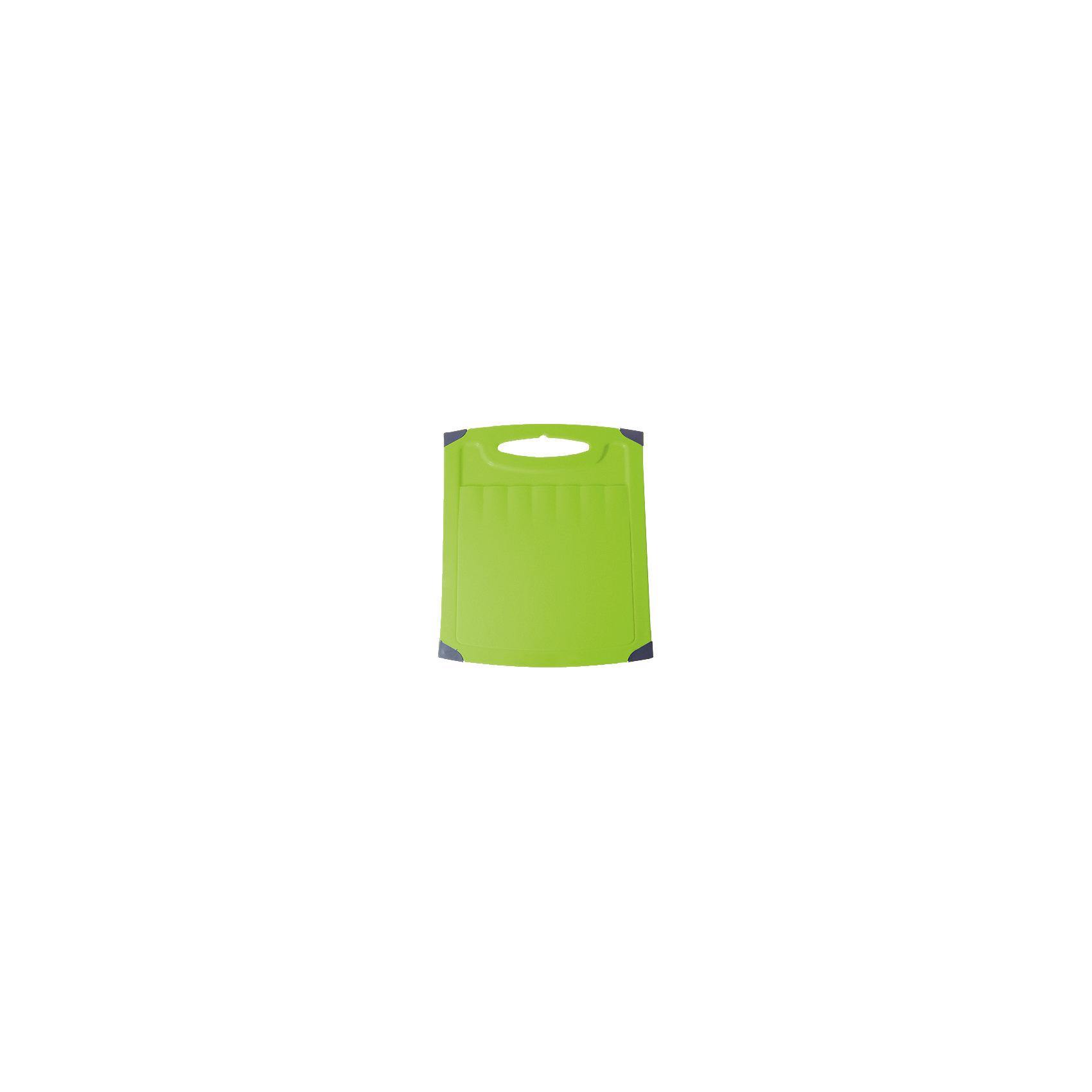 Доска разделочная Люкс №1, Plastic CentreКухонная утварь<br>Доска разделочная Люкс №1, Plastic Centre<br><br>Характеристики:<br><br>• Цвет: зеленый<br>• Материал: пластик<br>• В комплекте: 1 штука<br>• Размер: 26х23 см<br><br>Хорошие разделочные доски позволят вам легко навести порядок на вашей кухне и не отвлекаться на мелочи. Эта доска оснащена специальным желобком, который поможет слить стекающую воду, не потревожив продукты. Изготовлены они из высококачественного пищевого пластика, который безопасен  для здоровья. Доска устойчива к запахам и порезам от ножа. Стильный дизайн не оставит равнодушным никого.<br><br>Доска разделочная Люкс №1, Plastic Centre можно купить в нашем интернет-магазине.<br><br>Ширина мм: 260<br>Глубина мм: 230<br>Высота мм: 6<br>Вес г: 260<br>Возраст от месяцев: 216<br>Возраст до месяцев: 1188<br>Пол: Унисекс<br>Возраст: Детский<br>SKU: 5545677