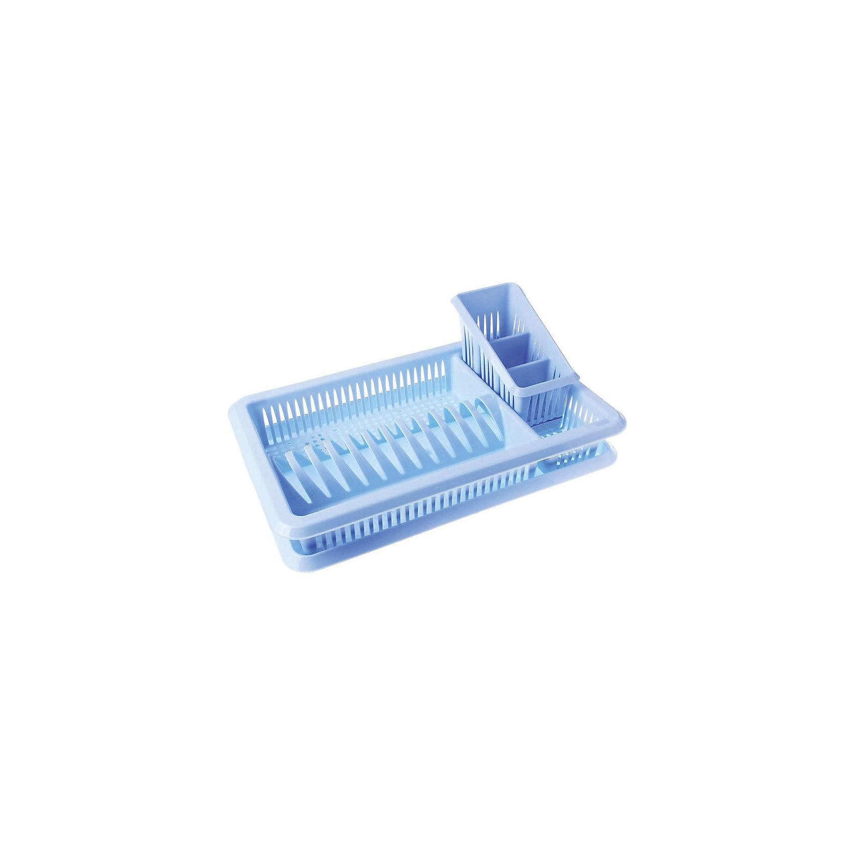 Сушилка для посуды и стол.приборов с поддоном 1-а ярусная Лилия, Plastic CentreПосуда<br>Сушилка для посуды и стол.приборов с поддоном 1-а ярусная Лилия, Plastic Centre<br><br>Характеристики:<br><br>• Материал: пластик<br>• Цвет: голубой<br>• В комплекте: 1 штука<br>• Размер: 48х30х17 см<br><br>Эта удобная сушилка  для посуды и столовых приборов позволит вам держать ящики для их хранения в полном порядке. Сушилка состоит из двух секций и сделана из высококачественного пластика, который не бьется и устойчив к царапинам. Изделие легко моется и с его помощью вы легко сохраните порядок на вашей кухне.<br><br>Сушилка для посуды и стол.приборов с поддоном 1-а ярусная Лилия, Plastic Centre можно купить в нашем интернет-магазине.<br><br>Ширина мм: 480<br>Глубина мм: 305<br>Высота мм: 170<br>Вес г: 748<br>Возраст от месяцев: 216<br>Возраст до месяцев: 1188<br>Пол: Унисекс<br>Возраст: Детский<br>SKU: 5545683