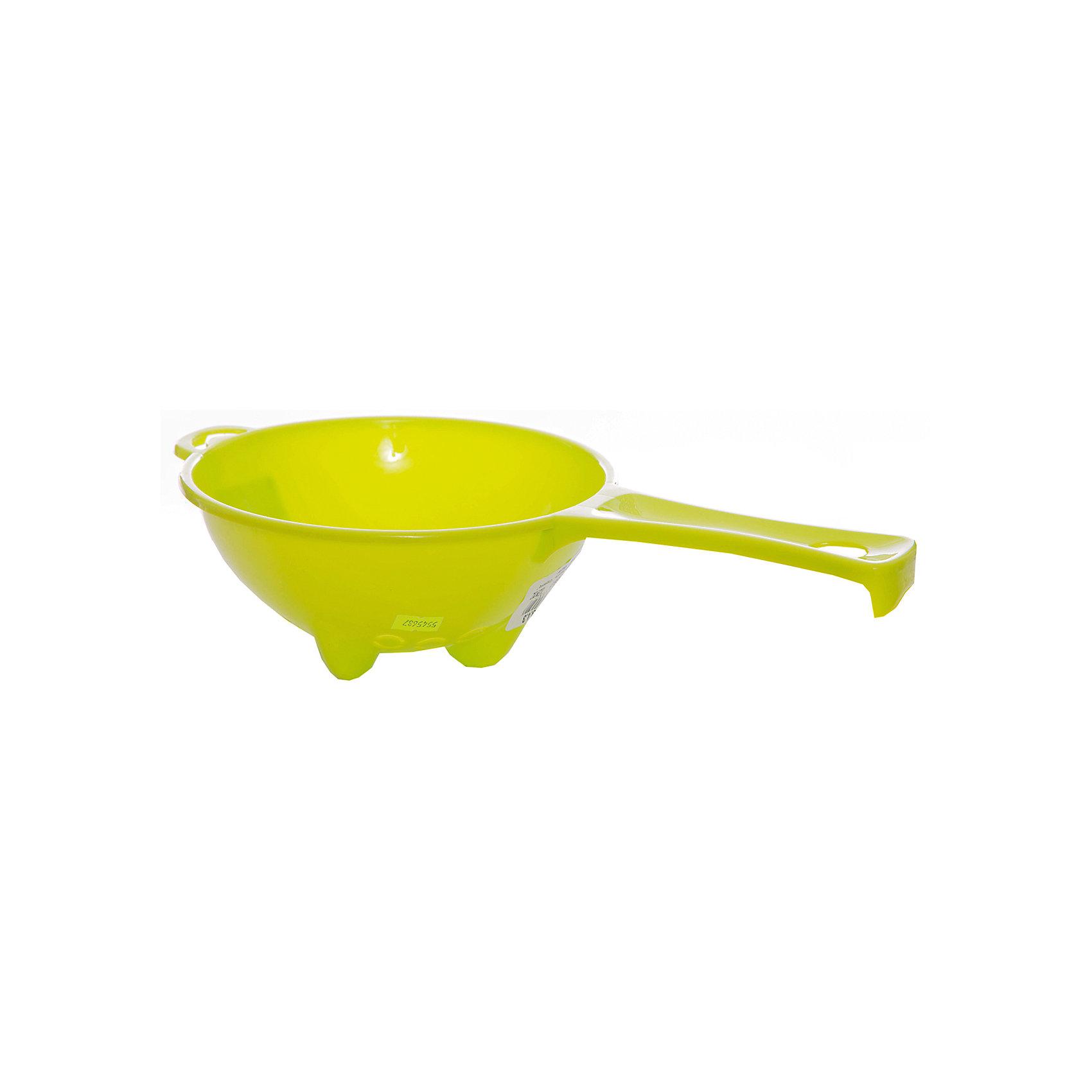 Дуршлаг с ручкой Organiq d 200 мм, Plastic CentreВанная комната<br>Дуршлаг с ручкой Organiq d 200 мм, PlasticCentre<br><br>Характеристики:<br><br>• Материал: пластик<br>• Цвет: зеленый<br>• В комплекте: 1 штука<br>• Диаметр: 200мм<br><br>Этот дуршлаг изготовлен из прочного и безопасного пластика, который не бьется и устойчив к царапинам. Он имеет стильный дизайн, плавные линии и выполнен в ярких цветах. Этот удобный и практичный предмет легко впишется в стиль вашей кухни и всегда пригодится для слива воды в процессе готовки.<br><br>Дуршлаг с ручкой Organiq d 200 мм, PlasticCentre можно купить в нашем интернет-магазине.<br><br>Ширина мм: 360<br>Глубина мм: 200<br>Высота мм: 90<br>Вес г: 97<br>Возраст от месяцев: 216<br>Возраст до месяцев: 1188<br>Пол: Унисекс<br>Возраст: Детский<br>SKU: 5545687