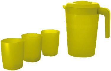 Кувшин для воды Фазенда 2л и 3 стакана, Plastic Centre фото-1