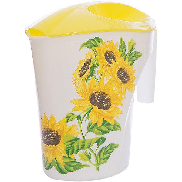 Кувшин Подсолнухи 3 л, Plastic CentreКухонная утварь<br>Кувшин Подсолнухи 3 л, Plastic Centre<br><br>Характеристики:<br><br>• Материал: пластик<br>• Цвет: желтый<br>• В комплекте: 1 штука<br>• Объем: 2 литра<br><br>Кувшин подойдет для хранения соков или воды. Крепкая и очень удобная ручка делает процесс наливания воды доступным даже для детей. Красивый дизайн кувшина, форма и его цвет позволят ему вписаться в любой интерьер. Сделан кувшин из прочного пластика, которые не выделяет вредных веществ и не отражается на вкусе воды.<br><br>Кувшин Подсолнухи 3 л, Plastic Centre можно купить в нашем интернет-магазине.<br>Ширина мм: 248; Глубина мм: 155; Высота мм: 235; Вес г: 242; Возраст от месяцев: 216; Возраст до месяцев: 1188; Пол: Унисекс; Возраст: Детский; SKU: 5545696;