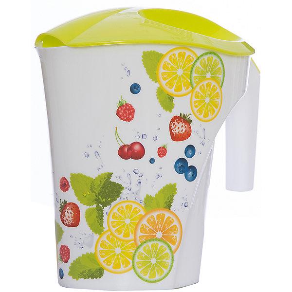 Кувшин Фрукты 3 л, Plastic CentreКухонная утварь<br>Кувшин Фрукты 3 л, Plastic Centre<br><br>Характеристики:<br><br>• Материал: пластик<br>• Цвет: желтый<br>• В комплекте: 1 штука<br>• Объем: 2 литра<br><br>Кувшин подойдет для хранения соков или воды. Крепкая и очень удобная ручка делает процесс наливания воды доступным даже для детей. Красивый дизайн кувшина, форма и его цвет позволят ему вписаться в любой интерьер. Сделан кувшин из прочного пластика, которые не выделяет вредных веществ и не отражается на вкусе воды.<br><br>Кувшин Фрукты 3 л, Plastic Centre можно купить в нашем интернет-магазине.<br>Ширина мм: 248; Глубина мм: 155; Высота мм: 235; Вес г: 242; Возраст от месяцев: 216; Возраст до месяцев: 1188; Пол: Унисекс; Возраст: Детский; SKU: 5545697;