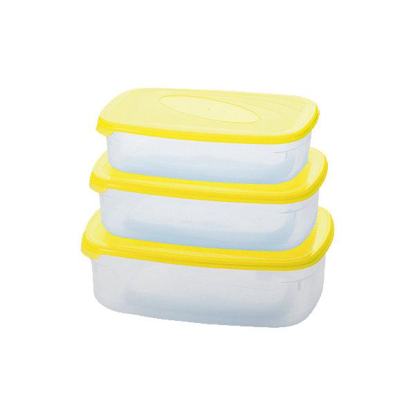 Комплект емкостей для СВЧ Galaxy прямоугольных 0,75+1,2+1,6л, Plastic CentreДетская посуда<br>Комплект емкостей для СВЧ Galaxy прямоугольных 0,75+1,2+1,6л, Plastic Centre<br><br>Характеристики:<br><br>• Материал: пластик<br>• Цвет: желтый<br>• В комплекте: 3 емкости<br>• Объем: 0,75, 1,2 и 1,6 литров<br><br>Эти удобные квадратные емкости можно использовать как для хранения еды в холодильнике, так и для ее разогрева в микроволновой печи. Удобный эргономичный дизайн обеспечивает практичность хранения и возможность не занимать много места - емкости легко ставятся друг на друга. Изделия выполнены их высококачественного пластика и безопасны для пищевых продуктов.<br><br>Комплект емкостей для СВЧ Galaxy прямоугольных 0,75+1,2+1,6л, Plastic Centre можно купить в нашем интернет-магазине.<br><br>Ширина мм: 222<br>Глубина мм: 155<br>Высота мм: 70<br>Вес г: 275<br>Возраст от месяцев: 216<br>Возраст до месяцев: 1188<br>Пол: Унисекс<br>Возраст: Детский<br>SKU: 5545702