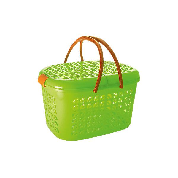 Корзина-переноска малая, Plastic CentreЯщики для игрушек<br>Корзина-переноска малая, Plastic Centre<br><br>Характеристики:<br><br>• Материал: пластик<br>• Цвет: зеленый<br>• В комплекте: 1 штука<br>• Размер: 42х29х23 см<br><br>Эта очаровательная корзина-переноска многофункциональна и может помочь вам в самых разных ситуациях. Ее можно использовать для хранения продуктов,  детских игрушек или же для переноски животных. Крышка и стенки изделия имеют фигурные отверстия, а дно - сплошное. Крышки открываются с двух сторон.<br><br>Корзина-переноска малая, Plastic Centre можно купить в нашем интернет-магазине.<br><br>Ширина мм: 425<br>Глубина мм: 295<br>Высота мм: 236<br>Вес г: 682<br>Возраст от месяцев: 216<br>Возраст до месяцев: 1188<br>Пол: Унисекс<br>Возраст: Детский<br>SKU: 5545704