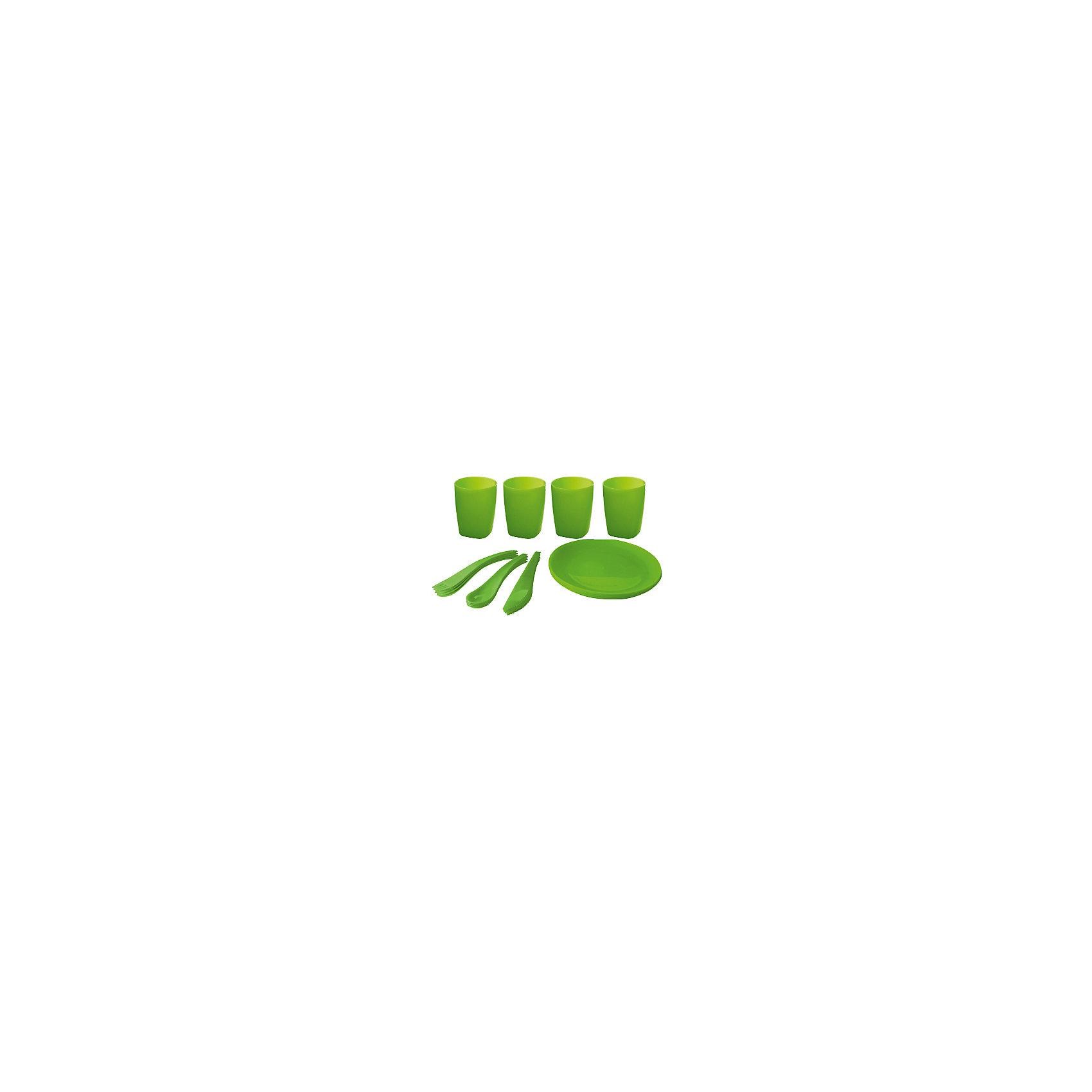 Мини-набор для пикника и барбекю на 4 персоны, Plastic CentreПосуда<br>Мини-набор для пикника и барбекю на 4 персоны, Plastic Centre<br><br>Характеристики:<br><br>• Материал: пластик<br>• Цвет: зеленый<br>• В комплекте: тарелка, 4 стакана, столовые приборы<br>• Количество человек: 4<br><br>Этот удобный набор для пикника имеет в комплекте все, что может понадобиться для загородной поездки.  В нем имеются наборы на 6 персон, а сам он выполнен из высококачественного пластика, который безопасен, легко моется и устойчив к царапинам. По этой причине данный набор подходит для многократного использования. В комплекте имеются: тарелка, 4 стакана, столовые приборы.<br><br>Мини-набор для пикника и барбекю на 4 персоны, Plastic Centre можно купить в нашем интернет-магазине.<br><br>Ширина мм: 305<br>Глубина мм: 205<br>Высота мм: 100<br>Вес г: 473<br>Возраст от месяцев: 216<br>Возраст до месяцев: 1188<br>Пол: Унисекс<br>Возраст: Детский<br>SKU: 5545705