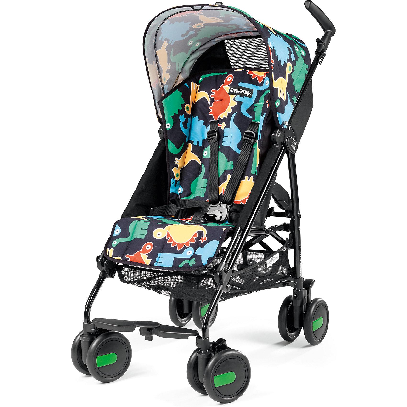 Коляска-трость Pliko Mini с бампером, Peg-Perego, Dino PopКоляска-трость Pliko Mini, Peg-Perego - компактная прогулочная коляска с небольшими габаритами, которая отвечает всем требованиям комфорта и безопасности малыша. Очень практична для использования в любой ситуации. Коляска оснащена удобным для ребенка сиденьем с мягкими 5- точечными ремнями безопасности. Дополнительно можно приобрести мягкий съемный бампер (отдельно бампер без коляски не продается!). Спинка легко раскладывается в 3 положениях вплоть до горизонтального. Опора для ножек регулируется, что обеспечивает<br>малышу правильную осанку. Большой капюшон со смотровым окном защитит от солнца и дождя.  <br><br>Для родителей предусмотрены удобные ручки и вместительная корзина для принадлежностей малыша. Коляска оснащена 4 двойными колесами (передние - поворотные с возможностью фиксации, задние - с тормозом). Благодаря узкой колесной базе коляска без труда преодолевает<br>даже самые узкие проемы дверей, лифтов и турникетов. Легко и компактно складывается тростью, что позволяет использовать ее во время поездок и путешествий. Обивку можно снимать и стирать. Подходит для детей от 6 мес. до 3 лет.<br><br><br>Особенности:<br><br>- удобна для транспортировки и хранения;<br>- объемный капюшон от солнца и дождя;<br>- спинка сиденья регулируется 3 положениях;<br>- регулируемая подножка; <br>- корзина для вещей ребенка;<br>- передние поворотные колеса с возможностью фиксации;<br>- узкая колесная база;<br>- легко и компактно складывается тростью.<br><br><br>Дополнительная информация:<br><br>- Цвет: Dino Pop.<br>- Материал: текстиль, металл, пластик.<br>- Диаметр колес: 14,6 см.<br>- Максимальная длина спального места: 87 см.<br>- Размер в разложенном виде: 84 х 50 х 101 см.<br>- Размер в сложенном виде: 34 х 32 х 94 см.<br>- Вес: 5,7 кг.<br><br>Коляску-трость Pliko Mini + бампер передний, Peg-Perego можно купить в нашем интернет-магазине.<br><br>Ширина мм: 470<br>Глубина мм: 290<br>Высота мм: 1025<br>Вес г: 7600<br>Возр