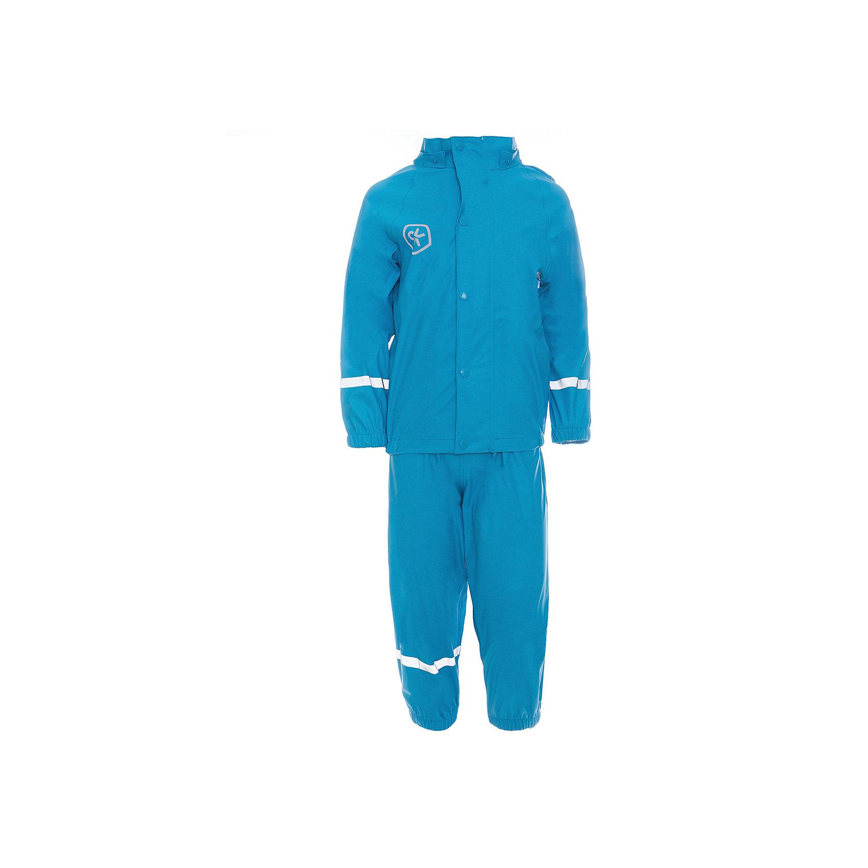 Непромокаемый комплект для девочки Color KidsВерхняя одежда<br>Характеристики товара:<br><br>• цвет: голубой<br>• состав: 100% полиэстер<br>• регулируемые подтяжки<br>• без утеплителя<br>• капюшон<br>• швы проклеены<br>• водонепроницаемый <br>• ветрозащитный<br>• светоотражающие детали<br>• эластичные манжеты<br>• штрипки<br>• сезон: демисезон<br>• температурный режим: +10 до +20<br>• страна производства: Китай<br>• страна бренда: Дания<br><br>Такой удобный комплект сделан из непромокаемого легкого материала, поэтому отлично подойдет для дождливой погоды в межсезонье.<br><br>Он комфортно сидит и обеспечивает ребенку необходимое удобство и тепло. Очень стильно смотрится. Отличный вариант качественной одежды от проверенного производителя!<br><br>Подарите своем у ребенку модную и комфортную одежду от известного бренда!<br><br>Комплект для девочки от датского бренда Color Kids (Колор кидз) можно купить в нашем интернет-магазине.<br><br>Ширина мм: 356<br>Глубина мм: 10<br>Высота мм: 245<br>Вес г: 519<br>Цвет: голубой<br>Возраст от месяцев: 72<br>Возраст до месяцев: 84<br>Пол: Унисекс<br>Возраст: Детский<br>Размер: 122,98,104,110,116,128<br>SKU: 5557299