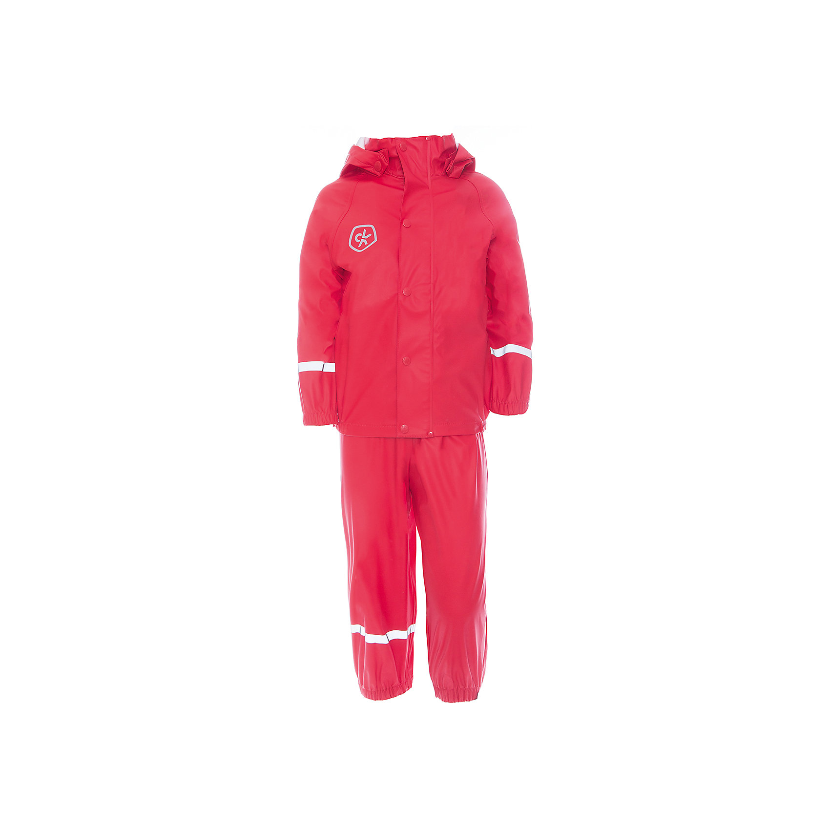 Непромокаемый комплект для девочки Color KidsВерхняя одежда<br>Характеристики товара:<br><br>• цвет: красный<br>• состав: 100% полиэстер<br>• регулируемые подтяжки<br>• без утеплителя<br>• капюшон<br>• швы проклеены<br>• водонепроницаемый <br>• ветрозащитный<br>• светоотражающие детали<br>• эластичные манжеты<br>• штрипки<br>• сезон: демисезон<br>• температурный режим: +10 до +20<br>• страна производства: Китай<br>• страна бренда: Дания<br><br>Такой удобный комплект сделан из непромокаемого легкого материала, поэтому отлично подойдет для дождливой погоды в межсезонье.<br><br>Он комфортно сидит и обеспечивает ребенку необходимое удобство и тепло. Очень стильно смотрится. Отличный вариант качественной одежды от проверенного производителя!<br><br>Подарите своем у ребенку модную и комфортную одежду от известного бренда!<br><br>Комплект для девочки от датского бренда Color Kids (Колор кидз) можно купить в нашем интернет-магазине.<br><br>Ширина мм: 356<br>Глубина мм: 10<br>Высота мм: 245<br>Вес г: 519<br>Цвет: красный<br>Возраст от месяцев: 60<br>Возраст до месяцев: 72<br>Пол: Женский<br>Возраст: Детский<br>Размер: 116,98,104,110,122,128<br>SKU: 5557306