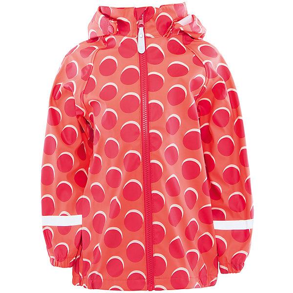 Куртка непромокаемая для девочки Color KidsВерхняя одежда<br>Характеристики товара:<br><br>• цвет: красный<br>• состав: 50 % полиэстер, 50% полиуретан<br>• без утеплителя<br>• эластичные манжеты<br>• водоотталкивающая <br>• ветрозащитная <br>• светоотражающие детали<br>• застежка: молния<br>• капюшон отстегивается<br>• защита подбородка<br>• температурный режим: +10 до +20<br>• страна производства: Китай<br>• страна бренда: Дания<br><br>Эта симпатичная и удобная куртка сделана из непромокаемого легкого материала, поэтому отлично подойдет для дождливой погоды в весенне-летний сезон. <br><br>Она комфортно сидит и обеспечивает ребенку необходимое удобство. Очень стильно смотрится. Отличный вариант качественной одежды от проверенного производителя!<br><br>Куртку для девочки от датского бренда Color Kids (Колор кидз) можно купить в нашем интернет-магазине.<br><br>Ширина мм: 356<br>Глубина мм: 10<br>Высота мм: 245<br>Вес г: 519<br>Цвет: красный<br>Возраст от месяцев: 72<br>Возраст до месяцев: 84<br>Пол: Женский<br>Возраст: Детский<br>Размер: 122,104,98,128,116,110<br>SKU: 5557332