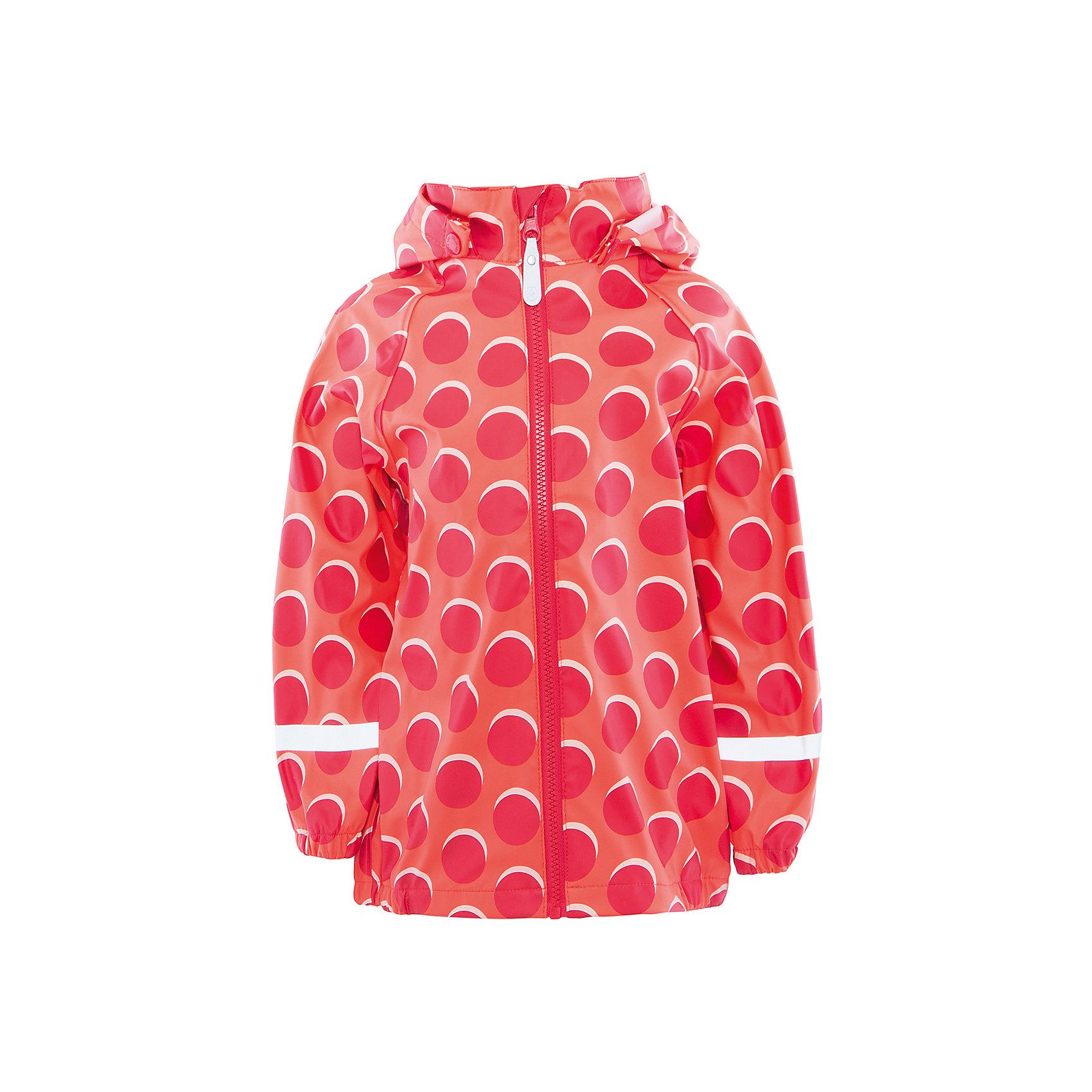 Куртка непромокаемая для девочки Color KidsВерхняя одежда<br>Характеристики товара:<br><br>• цвет: красный<br>• состав: 50 % полиэстер, 50% полиуретан<br>• без утеплителя<br>• эластичные манжеты<br>• водоотталкивающая <br>• ветрозащитная <br>• светоотражающие детали<br>• застежка: молния<br>• капюшон отстегивается<br>• защита подбородка<br>• температурный режим: +10 до +20<br>• страна производства: Китай<br>• страна бренда: Дания<br><br>Эта симпатичная и удобная куртка сделана из непромокаемого легкого материала, поэтому отлично подойдет для дождливой погоды в весенне-летний сезон. <br><br>Она комфортно сидит и обеспечивает ребенку необходимое удобство. Очень стильно смотрится. Отличный вариант качественной одежды от проверенного производителя!<br><br>Куртку для девочки от датского бренда Color Kids (Колор кидз) можно купить в нашем интернет-магазине.<br><br>Ширина мм: 356<br>Глубина мм: 10<br>Высота мм: 245<br>Вес г: 519<br>Цвет: красный<br>Возраст от месяцев: 48<br>Возраст до месяцев: 60<br>Пол: Женский<br>Возраст: Детский<br>Размер: 110,98,104,116,122,128<br>SKU: 5557332