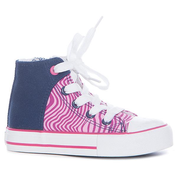 Кеды для девочки Color KidsКеды<br>Характеристики товара:<br><br>• цвет: розовый<br>• сезон: демисезон<br>• температурный режим: +10 до +20<br>• состав: текстиль<br>• подошва: резина<br>• застежка: шнурки, молния<br>• высокие <br>• защита носка<br>• страна производства: Китай<br>• страна бренда: Дания<br><br>Эти стильные и удобные кеды сделаны из прочного и легкого материала, поэтому отлично подойдут для теплой погоды в весенне-летний сезон.<br><br>Они комфортно сидят и обеспечивает ребенку необходимое удобство. <br><br>Очень стильно смотрятся. Отличный вариант качественной обуви от проверенного производителя!<br><br>Кеды для девочки от датского бренда Color Kids (Колор кидз) можно купить в нашем интернет-магазине.<br><br>Ширина мм: 250<br>Глубина мм: 150<br>Высота мм: 150<br>Вес г: 250<br>Цвет: розовый<br>Возраст от месяцев: 24<br>Возраст до месяцев: 36<br>Пол: Женский<br>Возраст: Детский<br>Размер: 26,35,34,33,32,31,30,29,28,27<br>SKU: 5557426