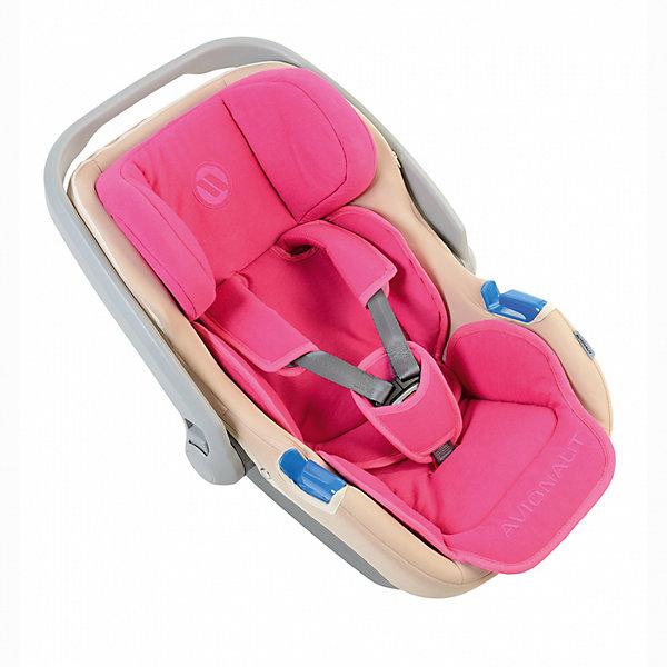 Автокресло Avionaut Jet, 0-13кг, розовый/бежевыйГруппа 0+  (до 13 кг)<br>Характеристики автокресла:<br><br>• группа: 0-0+;<br>• вес ребенка: до 13 кг;<br>• способ крепления: штатные ремни безопасности;<br>• способ установки: против хода движения автомобиля;<br>• 3-х точечные ремни безопасности, регулируемые по длине и высоте;<br>• высота подголовника регулируется;<br>• ручка для переноски автокресла;<br>• тент от солнечных лучей, можно снять и спрятать в кармашек на молнии;<br>• хлопковая обивка, снимается и стирается при температуре 30 градусов;<br>• имеется подушечка для малыша;<br>• полистиреновые вкладыши;<br>• имеется встроенный адаптер для установки автокресла на шасси коляски.<br><br>Размер автокресла: 71х65х81 см<br>Вес автокресла: 3 кг<br>Размер упаковки: 70х44х37 см<br>Вес в упаковке: 3,5 кг<br><br>Автокресло Jet, 0-13кг., Avionaut, малиновый/бежевый можно купить в нашем интернет-магазине.<br><br>Ширина мм: 710<br>Глубина мм: 440<br>Высота мм: 370<br>Вес г: 3500<br>Возраст от месяцев: 0<br>Возраст до месяцев: 12<br>Пол: Женский<br>Возраст: Детский<br>SKU: 5559162
