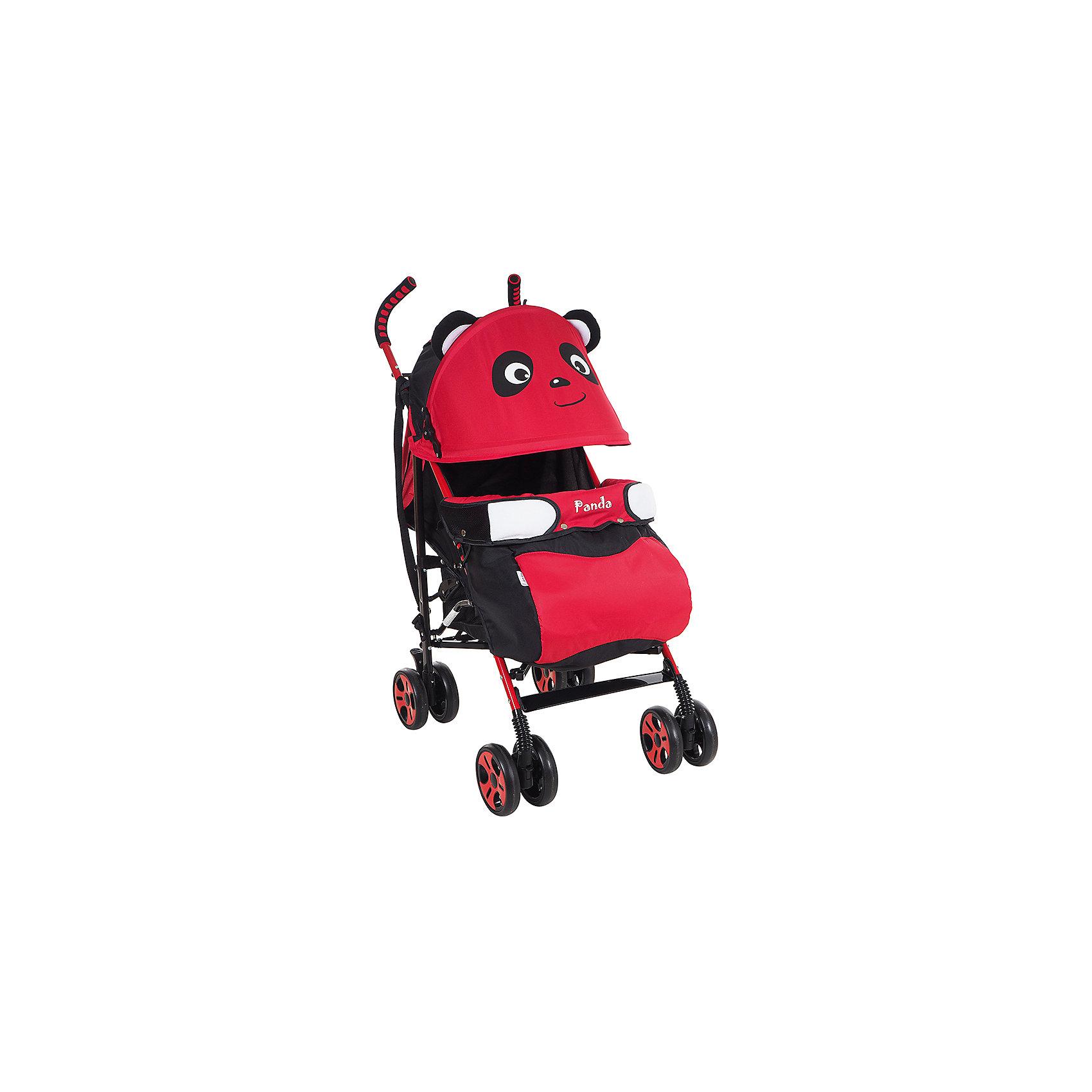 Коляска-трость Bambola Panda, красныйНедорогие коляски<br>Характеристики коляски-трости Bambola Panda<br><br>Прогулочный блок:<br><br>• спинка регулируется в нескольких положениях, угол наклона 170 градусов;<br>• регулируется подножка, 2 положения;<br>• страховочный бампер зафиксирован, имеется мягкий разделитель для ножек;<br>• дополнительная секция на капюшоне, смотровое окошко, москитная сетка;<br>• капюшон опускается до бампера;<br>• 3-х точечные ремни безопасности;<br>• чехол для ножек входит в комплект.<br><br>Шасси коляски:<br><br>• сдвоенные колеса: передние поворотные, задние с тормозом;<br>• съемные колеса;<br>• диаметр колес: 15,5 см;<br>• дополнительная пластиковая гибкая подножка для подросшего малыша;<br>• амортизация;<br>• механизм складывания: трость;<br>• материал: алюминий, пластик, полиэстер.<br><br>Размер коляски: 80х50х104 см<br>Размер коляски в сложенном виде: 33х26х102 см<br>Вес коляски: 7 кг<br>Вес упаковки: 7,75 кг<br><br>Коляску-трость Panda, Bambola, красный цвет можно купить в нашем интернет-магазине.<br><br>Ширина мм: 330<br>Глубина мм: 260<br>Высота мм: 1020<br>Вес г: 7750<br>Возраст от месяцев: 6<br>Возраст до месяцев: 36<br>Пол: Унисекс<br>Возраст: Детский<br>SKU: 5559167