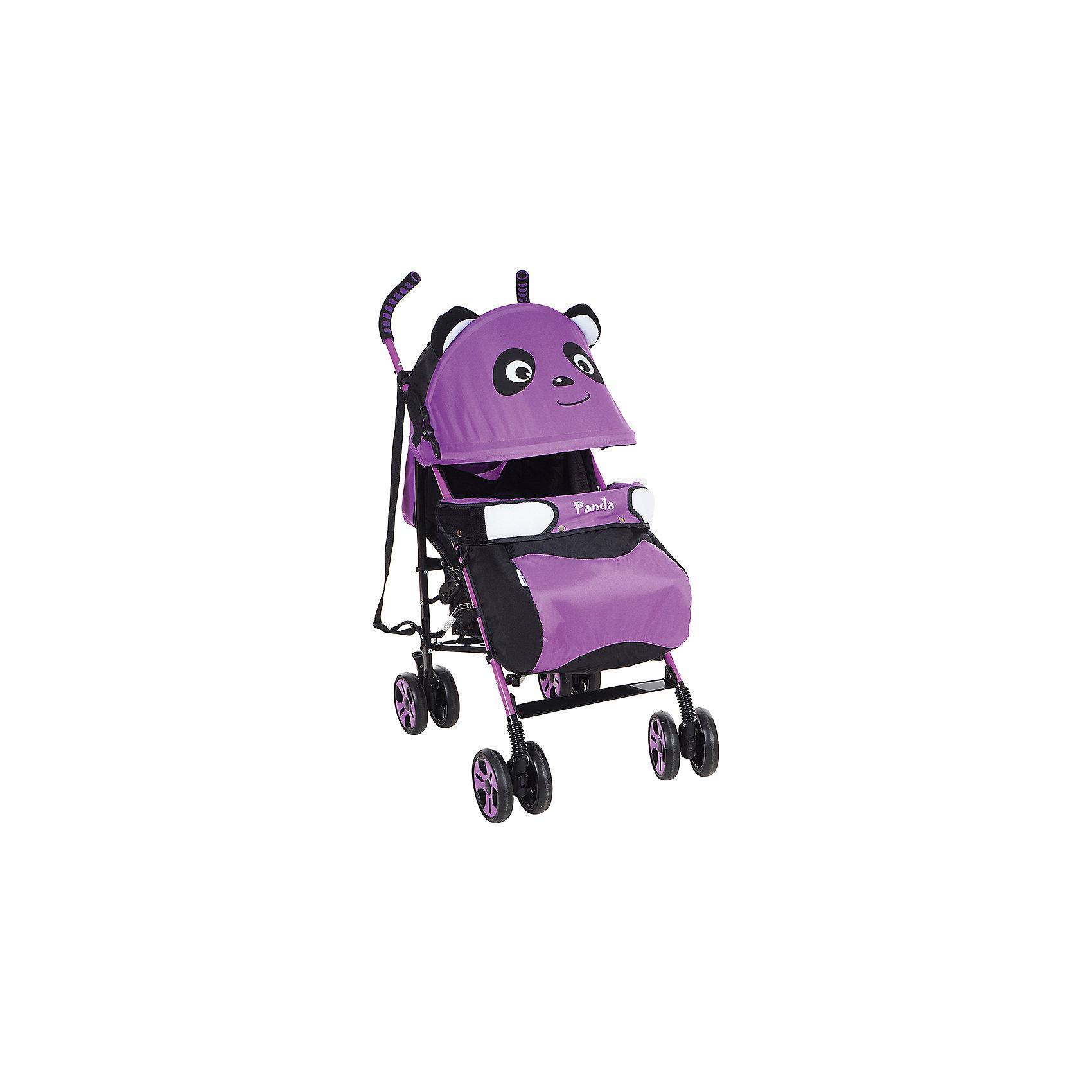 Коляска-трость Bambola Panda, фиолетовыйНедорогие коляски<br>Характеристики коляски-трости Bambola Panda<br><br>Прогулочный блок:<br><br>• спинка регулируется в нескольких положениях, угол наклона 170 градусов;<br>• регулируется подножка, 2 положения;<br>• страховочный бампер зафиксирован, имеется мягкий разделитель для ножек;<br>• дополнительная секция на капюшоне, смотровое окошко, москитная сетка;<br>• капюшон опускается до бампера;<br>• 3-х точечные ремни безопасности;<br>• чехол для ножек входит в комплект.<br><br>Шасси коляски:<br><br>• сдвоенные колеса: передние поворотные, задние с тормозом;<br>• съемные колеса;<br>• диаметр колес: 15,5 см;<br>• дополнительная пластиковая гибкая подножка для подросшего малыша;<br>• амортизация;<br>• механизм складывания: трость;<br>• материал: алюминий, пластик, полиэстер.<br><br>Размер коляски: 80х50х104 см<br>Размер коляски в сложенном виде: 33х26х102 см<br>Вес коляски: 7 кг<br>Вес упаковки: 7,75 кг<br><br>Коляску-трость Panda, Bambola, фиолетовый цвет можно купить в нашем интернет-магазине.<br><br>Ширина мм: 330<br>Глубина мм: 260<br>Высота мм: 1020<br>Вес г: 7750<br>Возраст от месяцев: 6<br>Возраст до месяцев: 36<br>Пол: Женский<br>Возраст: Детский<br>SKU: 5559168