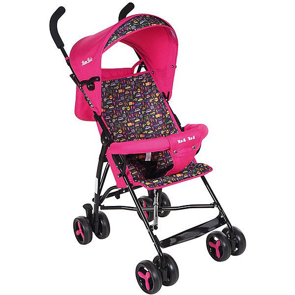 Коляска-трость Bambola BI-BI, розовыйКоляски-трости<br>Характеристики коляски-трости Bambola BI-BI<br><br>Прогулочный блок:<br><br>• спинка коляски находится в фиксированном положении: сидя;<br>• подножка находится в фиксированном положении;<br>• страховочный бампер фиксирован;<br>• имеется капюшон с солнцезащитным козырьком;<br>• 3-х точечные ремни безопасности.<br><br>Шасси коляски:<br><br>• сдвоенные колеса, ножной тормоз;<br>• диаметр колес: 15,5 см;<br>• дополнительная пластиковая гибкая подножка для подросшего малыша;<br>• механизм складывания: трость;<br>• материал: алюминий, пластик, полиэстер.<br><br>Размер коляски: 80х48х110 см<br>Размер коляски в сложенном виде: 30х40х104 см<br>Вес коляски: 5 кг<br>Вес упаковки: 5,13 кг<br><br>Коляску-трость BI-BI, Bambola, цвет розовый можно купить в нашем интернет-магазине.<br><br>Ширина мм: 300<br>Глубина мм: 400<br>Высота мм: 1040<br>Вес г: 5130<br>Возраст от месяцев: 8<br>Возраст до месяцев: 36<br>Пол: Женский<br>Возраст: Детский<br>SKU: 5559175