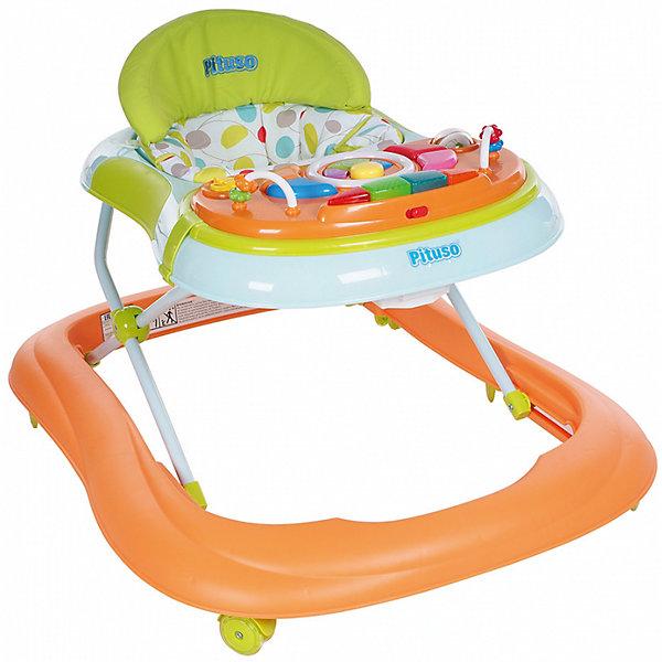 Ходунки Мой веселый друг, Pituso, оранжевыйХодунки<br>Характеристики ходунков Pituso:<br><br>• высота ходунков регулируется в 3-х положениях;<br>• музыкальное сопровождение;<br>• развивающие игрушки;<br>• устойчивая конструкция ходунков;<br>• мягкое сиденье эргономичной формы, высокая спинка;<br>• 8 колес, поворотные с блокировкой, материал силикон;<br>• материал ходунков: пластик, чехлы – полиэстер.<br><br>Размер ходунков в сложенном виде: 62х12,5х71,5 см<br>Вес: 4,46 кг<br>Максимальная нагрузка: 13 кг<br><br>Ходунки Мой веселый друг, Pituso, оранжевый можно купить в нашем интернет-магазине.<br><br>Ширина мм: 620<br>Глубина мм: 125<br>Высота мм: 715<br>Вес г: 4460<br>Возраст от месяцев: 6<br>Возраст до месяцев: 12<br>Пол: Унисекс<br>Возраст: Детский<br>SKU: 5559200