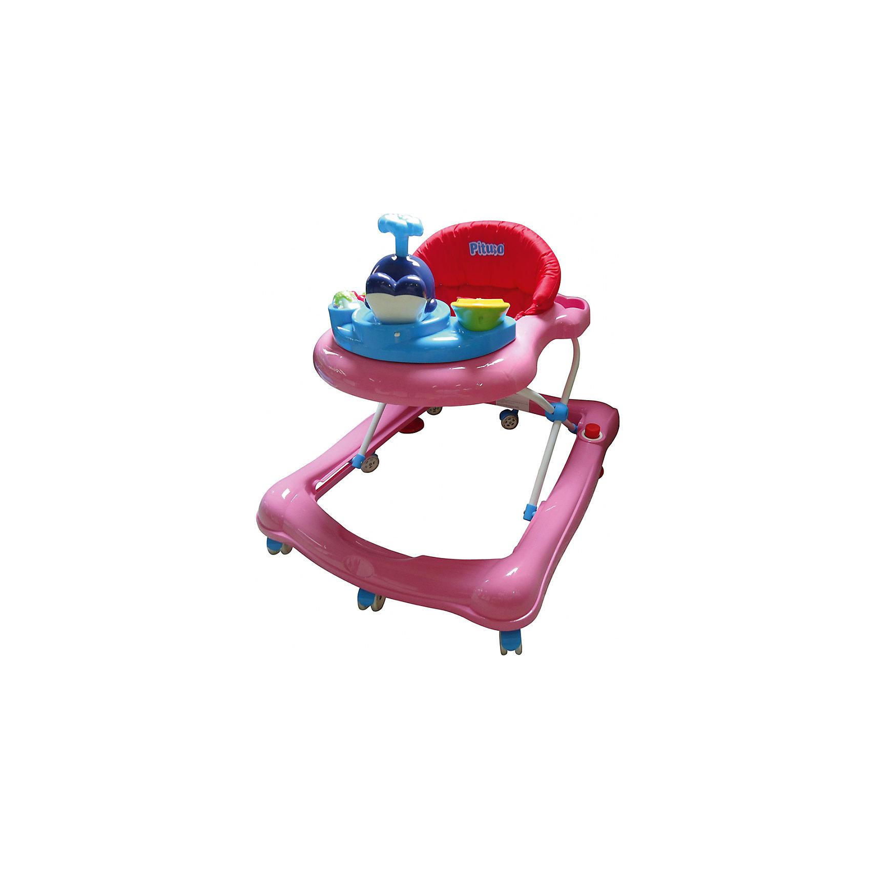 Ходунки Orense Дружок кит, Pituso, розовыйХодунки<br>Характеристики ходунков Pituso:<br><br>• высота ходунков регулируется в 3-х положениях;<br>• музыкальное сопровождение;<br>• развивающие игрушки;<br>• устойчивая конструкция ходунков;<br>• мягкое сиденье эргономичной формы, высокая спинка;<br>• 8 колес, поворотные с блокировкой, материал силикон;<br>• материал ходунков: пластик, чехлы – полиэстер.<br><br>Размер ходунков: 64х55х71 см<br>Вес: 46,7 кг<br>Максимальная нагрузка: 13 кг<br><br>Ходунки Orense Дружок кит, Pituso, розовый можно купить в нашем интернет-магазине.<br><br>Ширина мм: 640<br>Глубина мм: 550<br>Высота мм: 710<br>Вес г: 4670<br>Возраст от месяцев: 6<br>Возраст до месяцев: 12<br>Пол: Женский<br>Возраст: Детский<br>SKU: 5559205