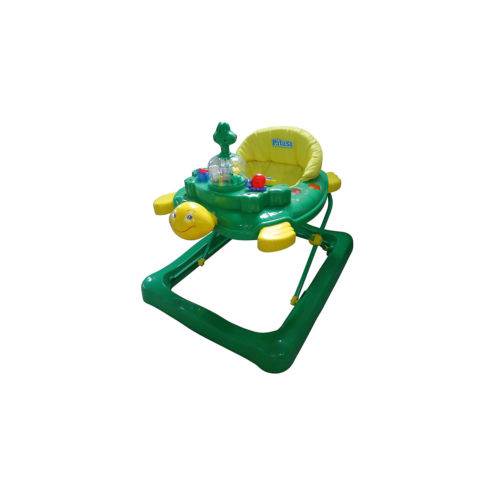 Ходунки Tortuga Черепаха, Pituso, зеленыйХодунки<br>PITUSO Ходунки TORTUGA ЧЕРЕПАХА (4 колес,игрушки,звук) 1 шт в кор., 71*64*55см, Зеленый<br><br>Ширина мм: 640<br>Глубина мм: 550<br>Высота мм: 710<br>Вес г: 5900<br>Возраст от месяцев: 6<br>Возраст до месяцев: 12<br>Пол: Унисекс<br>Возраст: Детский<br>SKU: 5559206