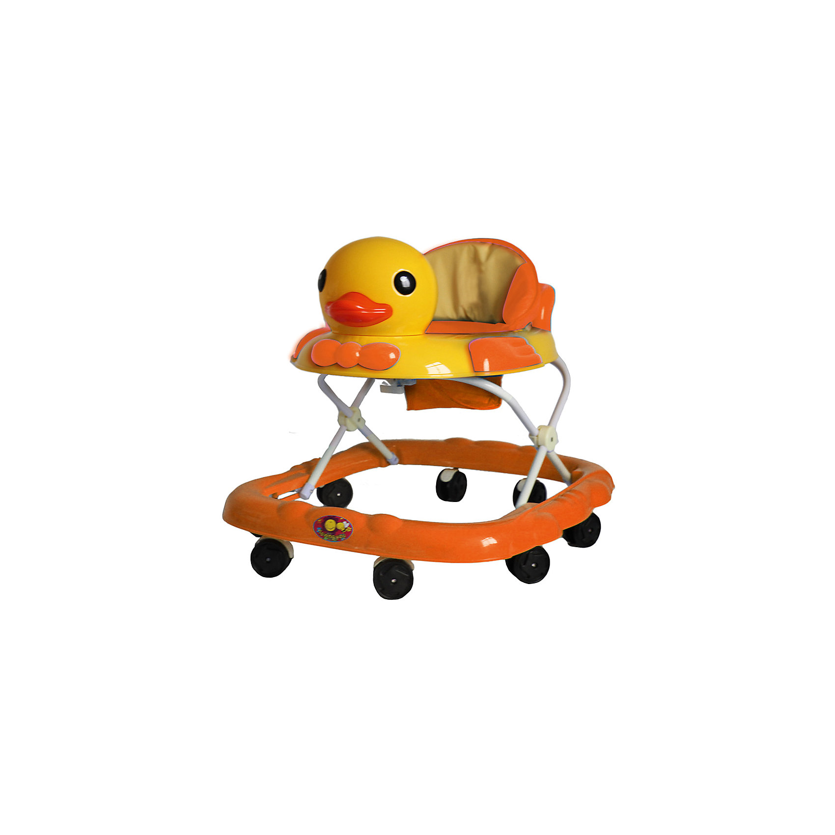 Ходунки Утка, Shine Ring, оранжевыйХодунки<br>Характеристики товара:<br><br>• цвет: оранжевый<br>• возраст: от 6 мес.<br>• 8 поворотных колес<br>• съемная игровая панель<br>• музыкальное сопровождение<br>• мягкое сиденье<br>• 3 положения высоты<br>• 2 батарейки типа (AA) (в комплект не входит)<br>• размеры: 71x63x55см<br>• вес: 3,4кг<br>• страна производства: Китай<br><br>Ходунки Shine Ring - это отличное приобретение, которое поможет вашему малышу сделать свои первые шаги. <br><br>Большое количество поворотных колес прекрасно распределят вес малыша. <br><br>Широкое основание придает отличную устойчивость, что обезопасит вашего ребенка. <br><br>Съемная игровая панель сможет развить мелкую моторику. <br><br>Приятное мягкое сидение прочно крепится к раме и не будет доставлять дискомфорт во время использования.<br><br>Ходунки Утка, Shine Ring можно купить в нашем интернет-магазине.<br><br>Ширина мм: 670<br>Глубина мм: 600<br>Высота мм: 510<br>Вес г: 3710<br>Возраст от месяцев: 6<br>Возраст до месяцев: 12<br>Пол: Унисекс<br>Возраст: Детский<br>SKU: 5559209