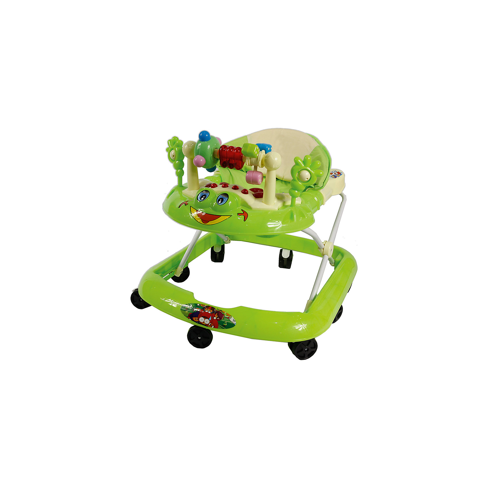 Ходунки Лягушка, Shine Ring, зеленыйХодунки<br>Характеристики товара:<br><br>• цвет: зеленый<br>• возраст: от 6 мес.<br>• 8 поворотных колес<br>• съемная игровая панель<br>• музыкальное сопровождение<br>• мягкое сиденье<br>• 3 положения высоты<br>• 2 батарейки типа (AA) (в комплект не входит)<br>• размеры: 56x63x39см<br>• вес: 2,24кг<br>• упаковка (ВхШхД), см: 63x10x54 см; вес 2,42кг<br>• страна производства: Китай<br><br>Ходунки Shine Ring - это отличное приобретение, которое поможет вашему малышу сделать свои первые шаги. <br><br>Большое количество поворотных колес прекрасно распределят вес малыша. <br><br>Широкое основание придает отличную устойчивость, что обезопасит вашего ребенка. <br><br>Съемная игровая панель сможет развить мелкую моторику. <br><br>Приятное мягкое сидение прочно крепится к раме и не будет доставлять дискомфорт во время использования.<br><br>Ходунки Лягушка, Shine Ring можно купить в нашем интернет-магазине.<br><br>Ширина мм: 670<br>Глубина мм: 600<br>Высота мм: 520<br>Вес г: 2800<br>Возраст от месяцев: 6<br>Возраст до месяцев: 12<br>Пол: Унисекс<br>Возраст: Детский<br>SKU: 5559212