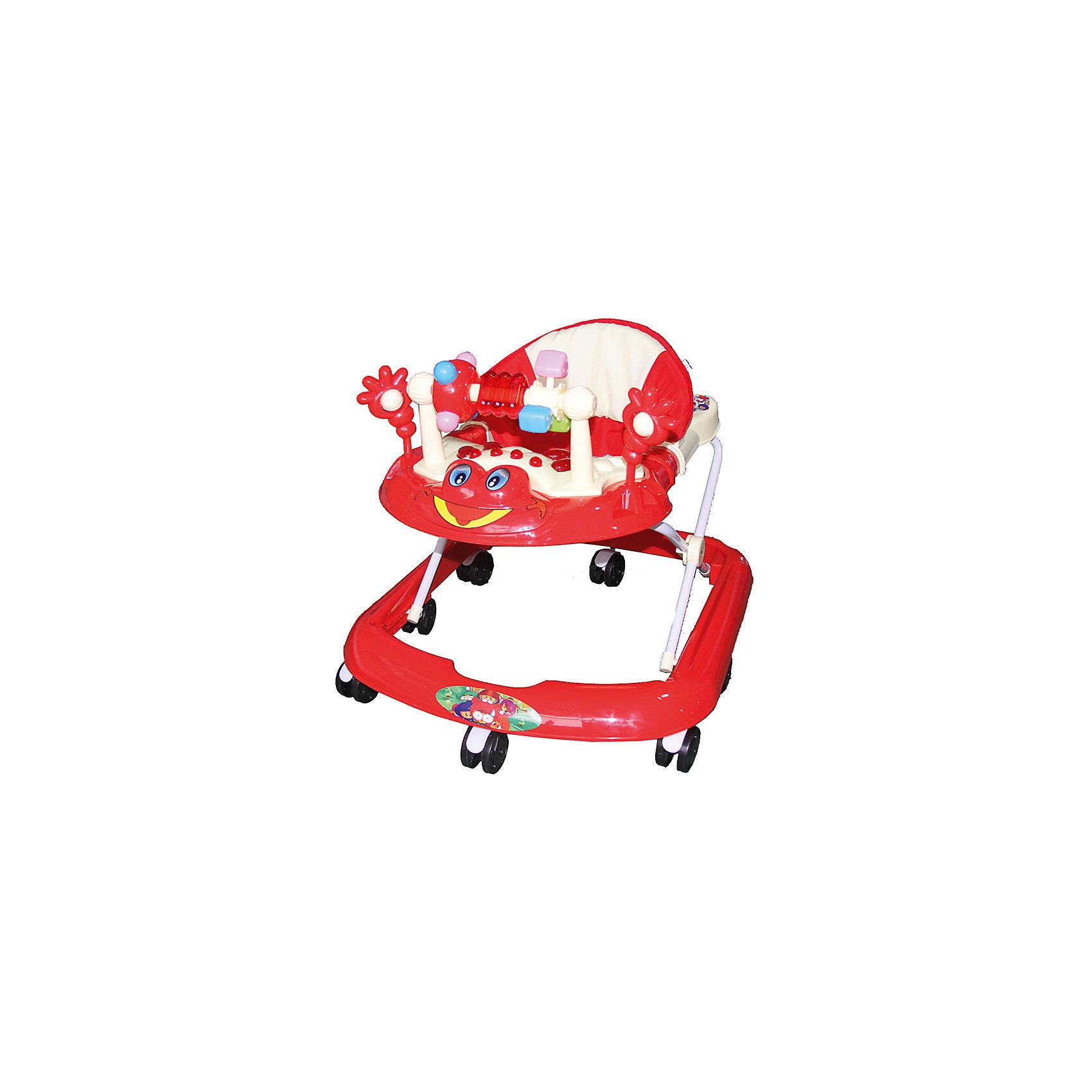 Ходунки Лягушка, Shine Ring, красныйХодунки<br>SHINE RING  Ходунки (8 колес,игрушки,муз) 5 шт в кор.(67*60*51), RED/ Красный<br><br>Ширина мм: 670<br>Глубина мм: 600<br>Высота мм: 520<br>Вес г: 2800<br>Возраст от месяцев: 6<br>Возраст до месяцев: 12<br>Пол: Унисекс<br>Возраст: Детский<br>SKU: 5559215