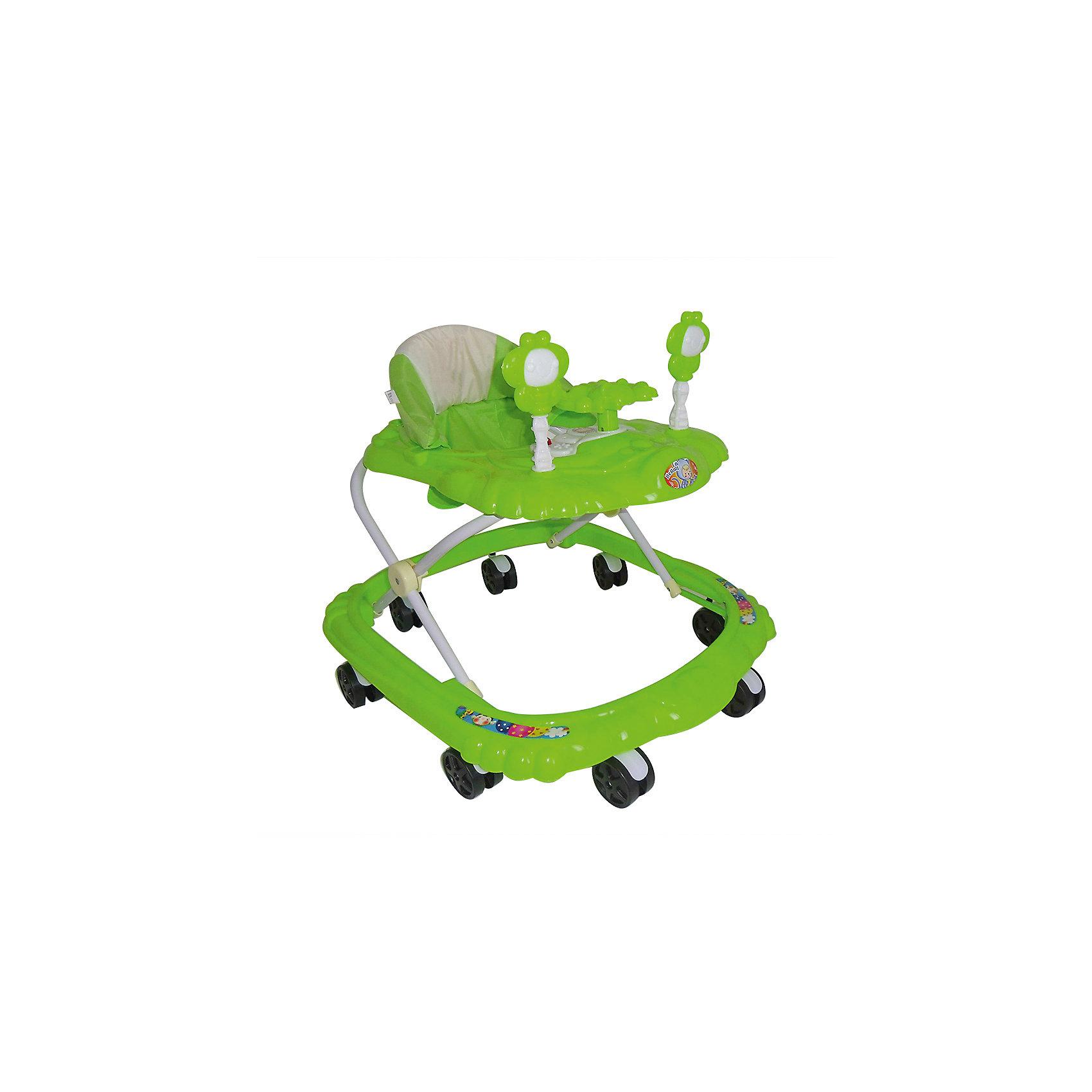 Ходунки Цветочки, Shine Ring, зеленыйХодунки<br>SHINE RING  Ходунки (8 колес,игрушки,муз) 6 шт в кор.(66*56*47), GREEN/ Зеленый<br><br>Ширина мм: 670<br>Глубина мм: 600<br>Высота мм: 520<br>Вес г: 3400<br>Возраст от месяцев: 6<br>Возраст до месяцев: 12<br>Пол: Унисекс<br>Возраст: Детский<br>SKU: 5559222