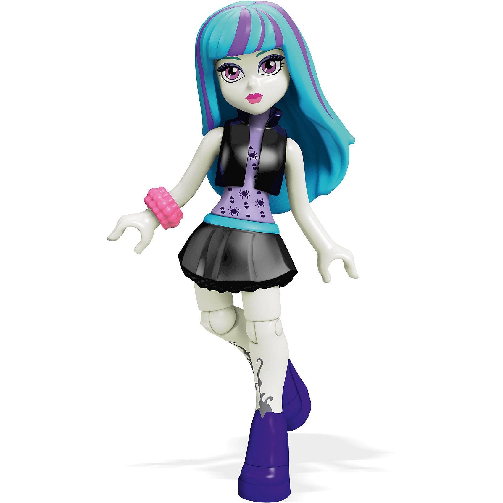 Мини-кукла Mega Bloks Monster High Твайла, 12,5 смМини-куклы<br><br><br>Ширина мм: 125<br>Глубина мм: 85<br>Высота мм: 25<br>Вес г: 17<br>Возраст от месяцев: 72<br>Возраст до месяцев: 144<br>Пол: Женский<br>Возраст: Детский<br>SKU: 5559843